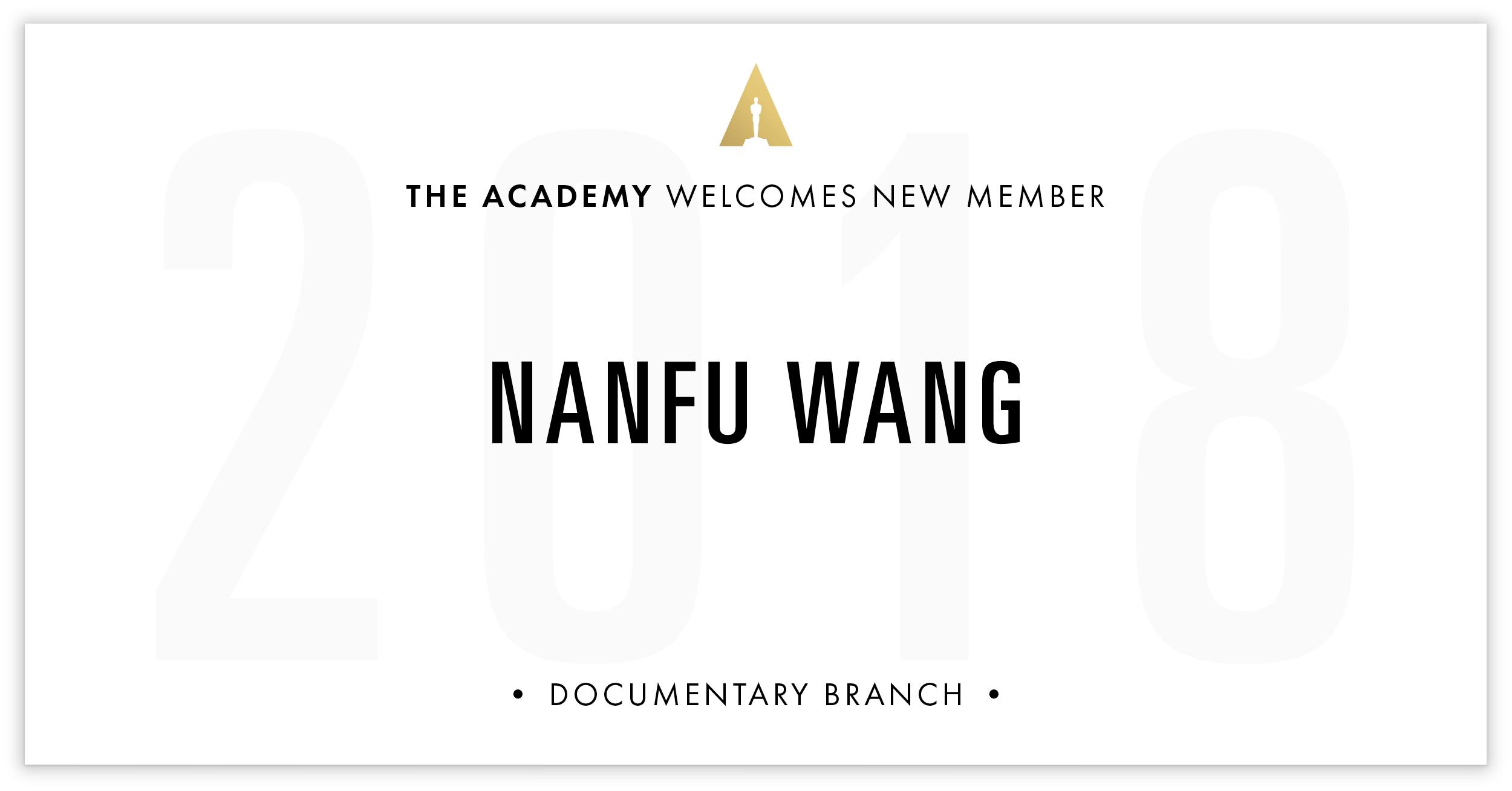 Nanfu Wang is invited!