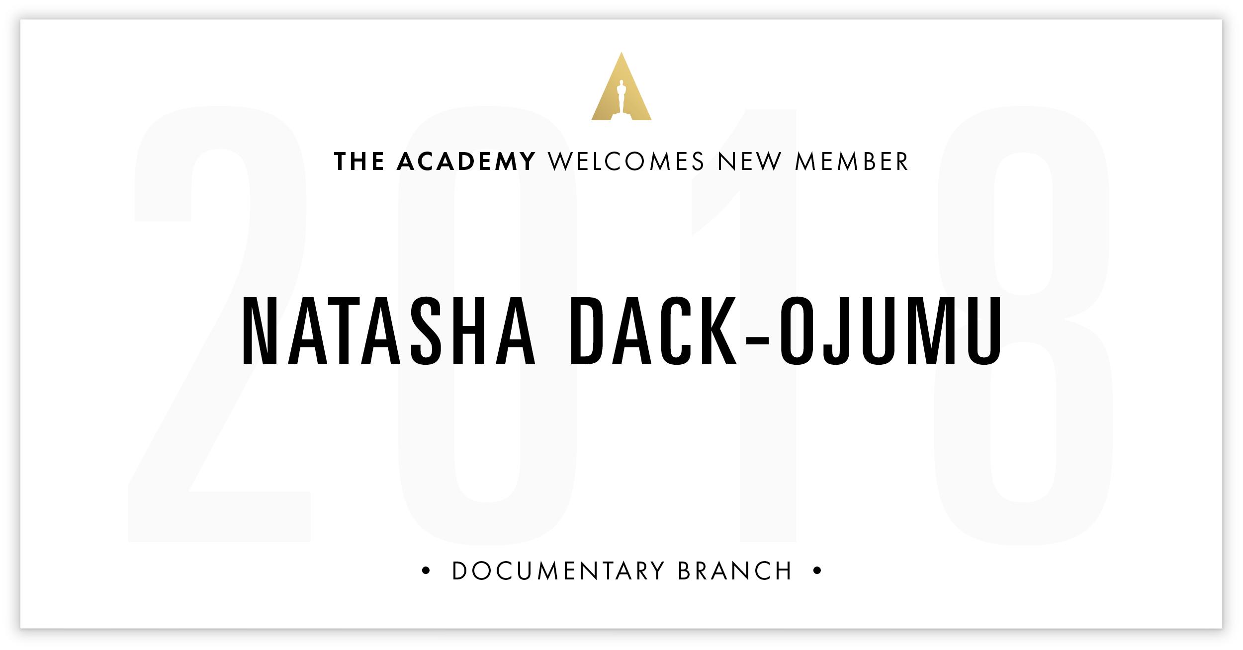 Natasha Dack-Ojumu is invited!