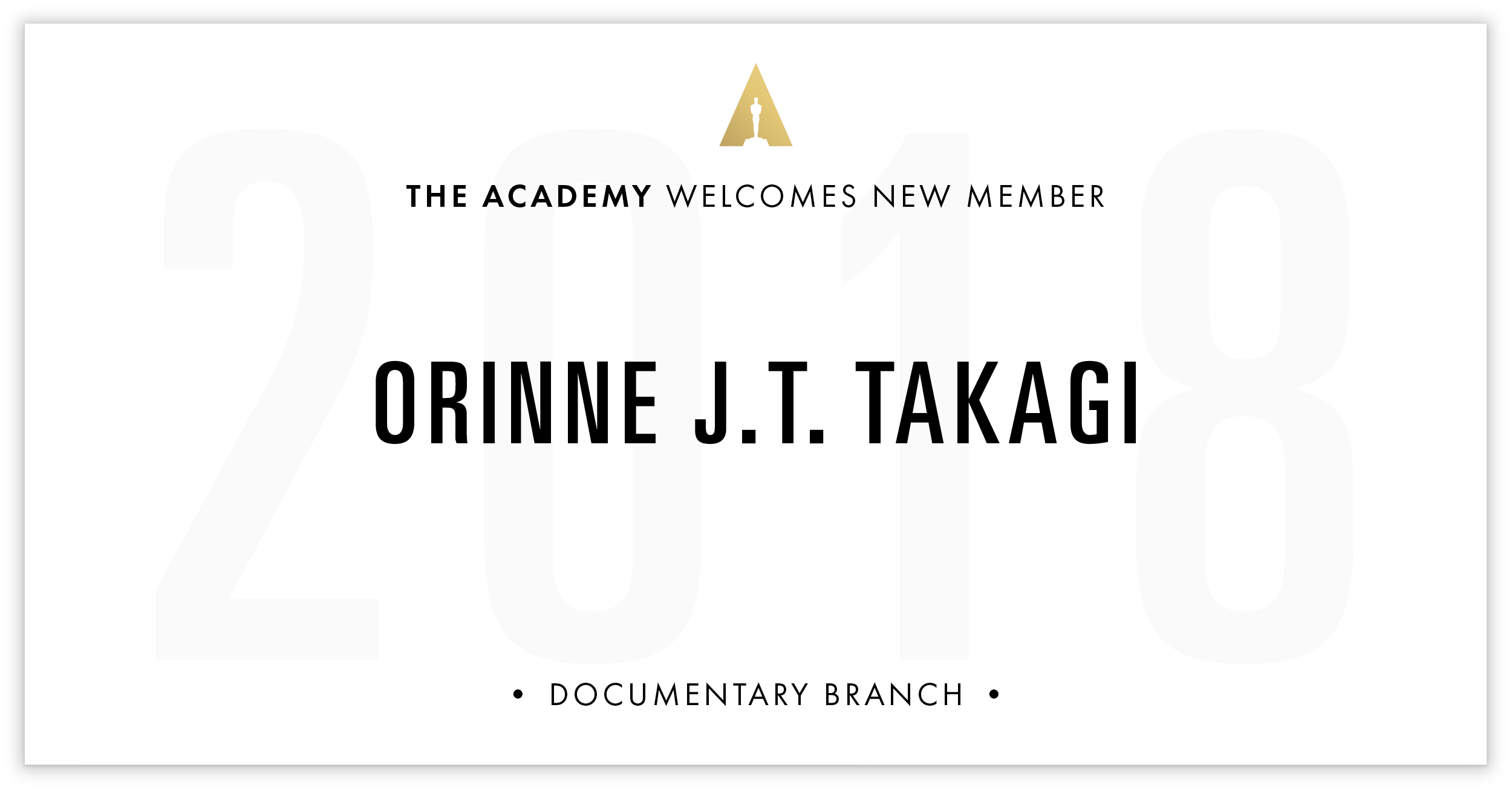 Orinne Takagi is invited!