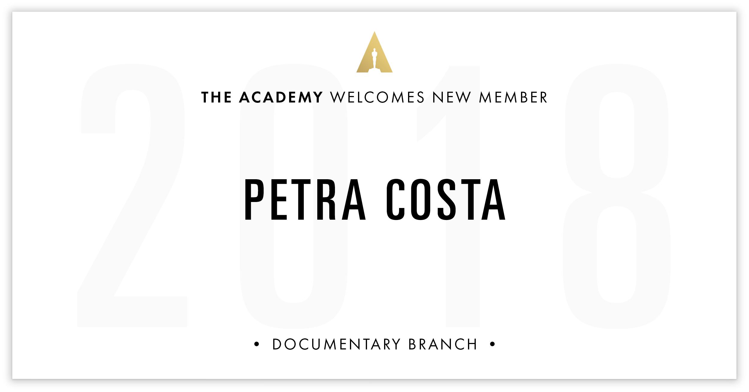 Petra Costa is invited!