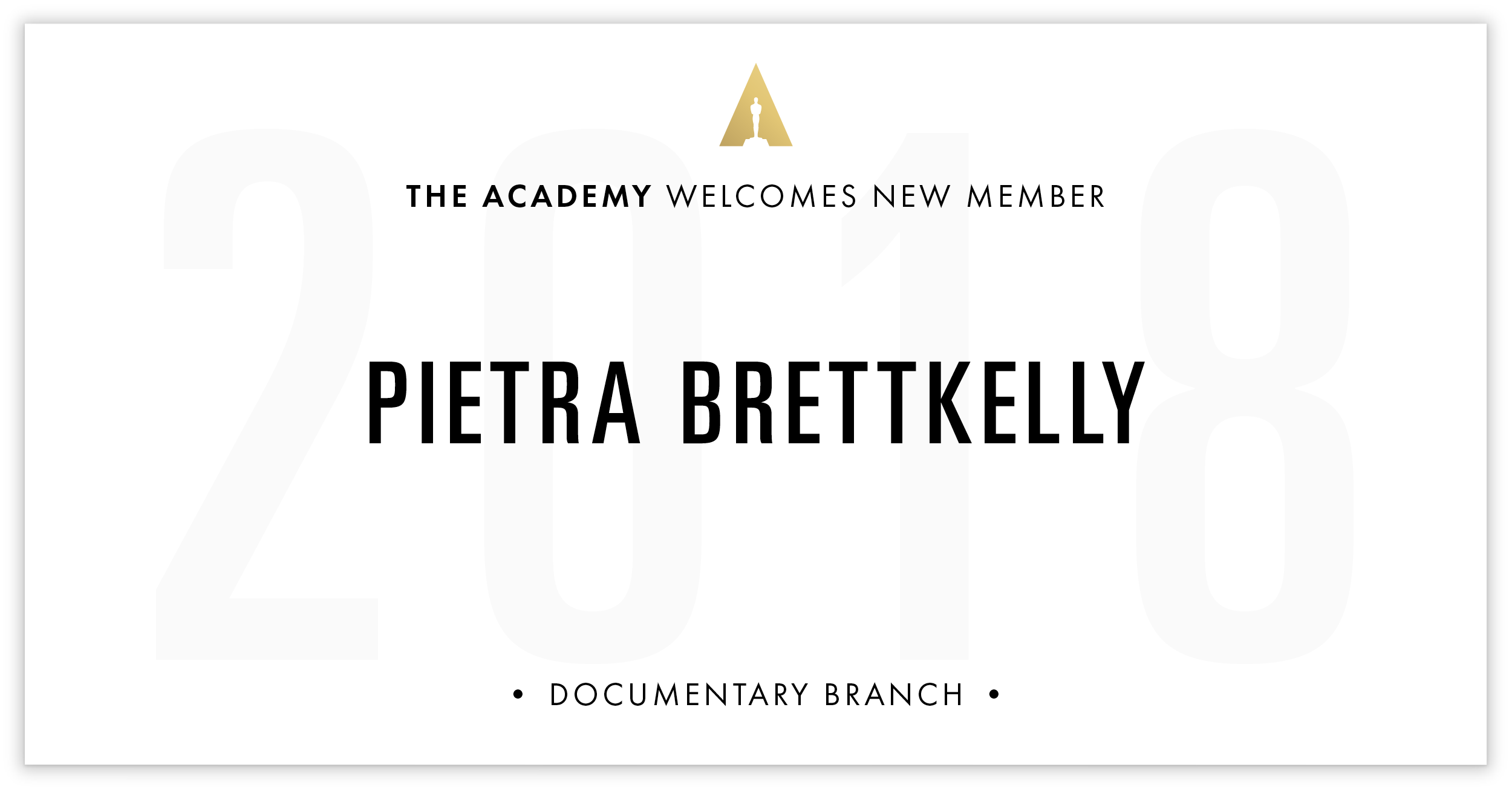 Pietra Brettkelly is invited!