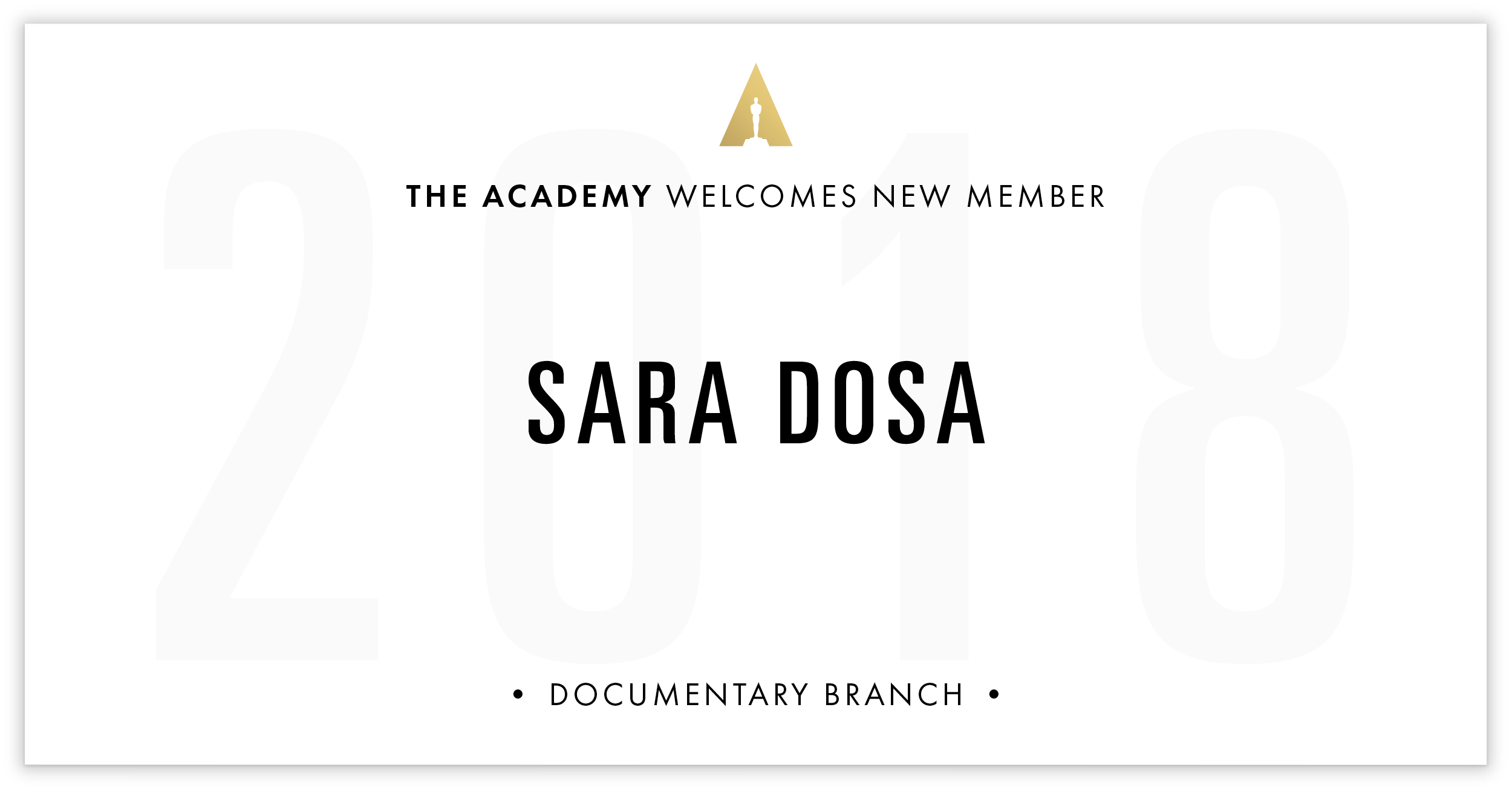 Sara Dosa is invited!
