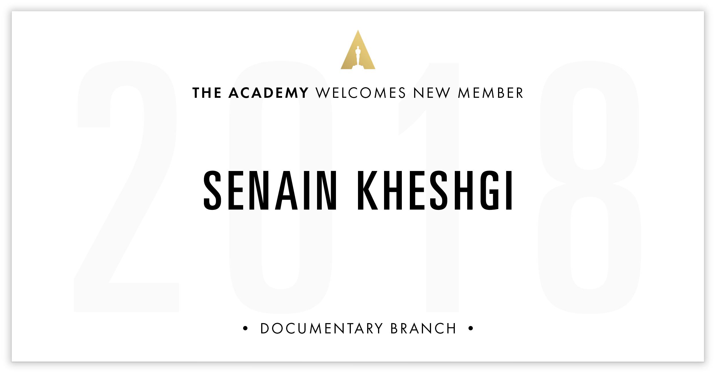 Senain Kheshgi is invited!
