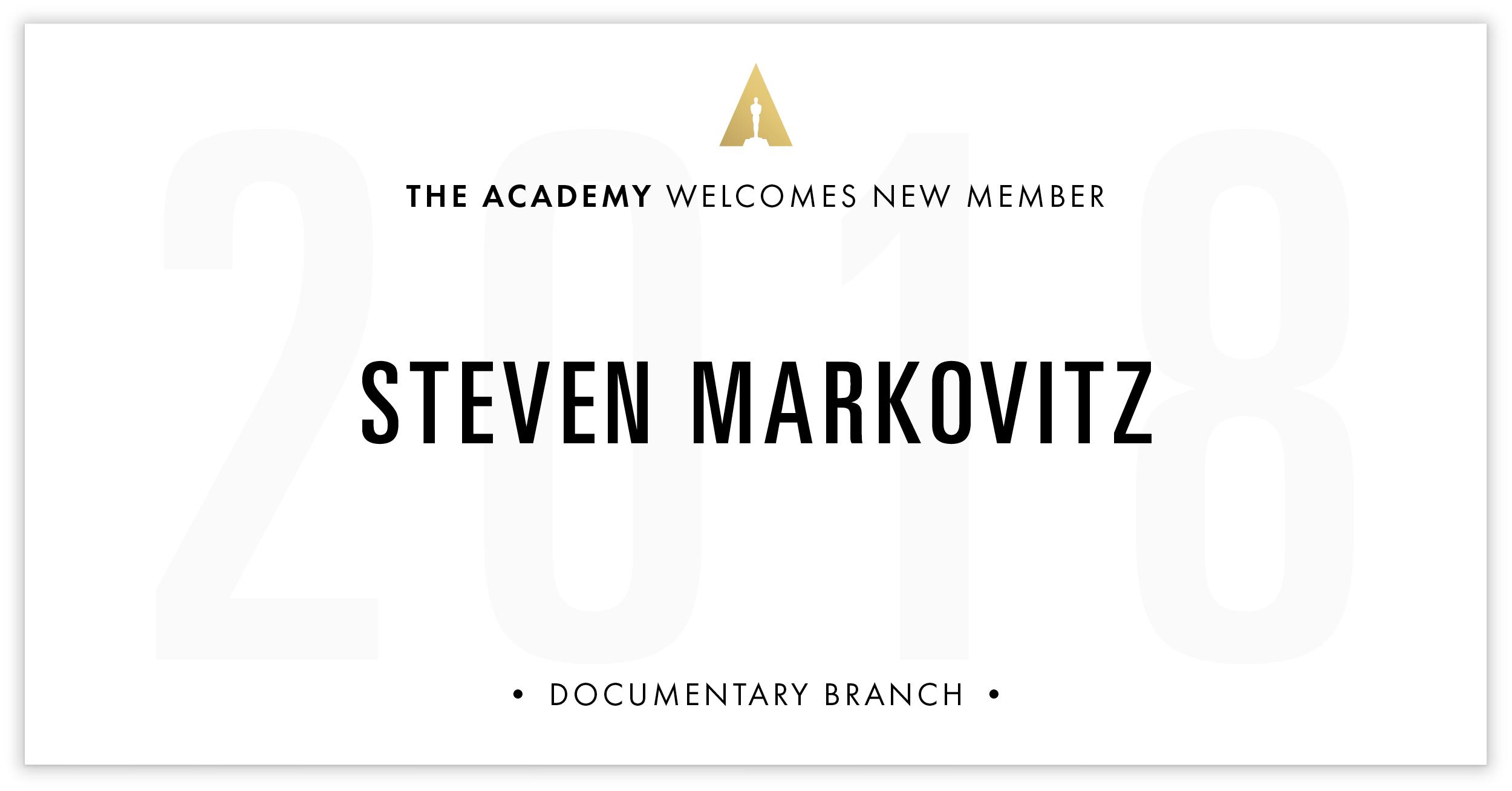 Steven Markovitz is invited!
