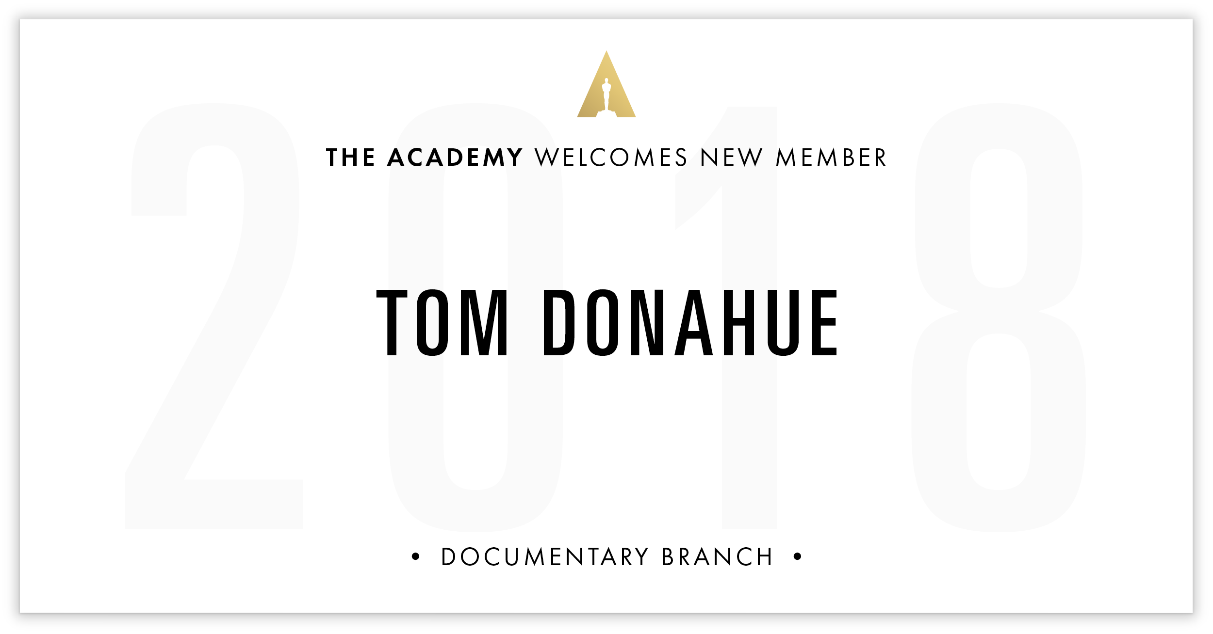 Tom Donahue is invited!