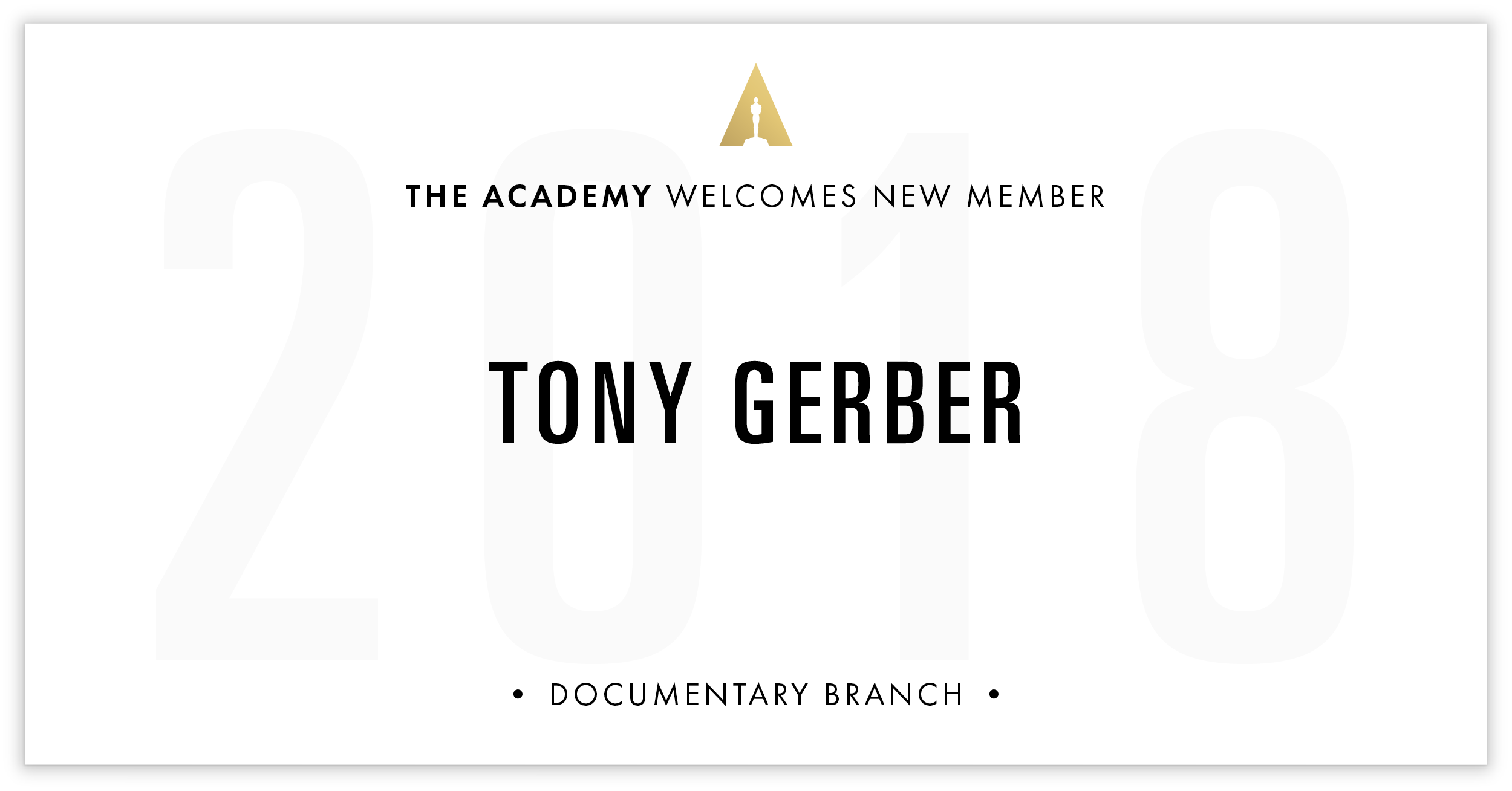 Tony Gerber is invited!
