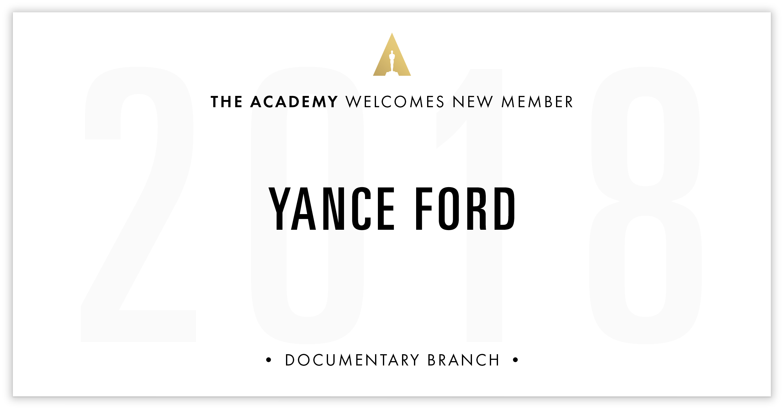 Yance Ford is invited!