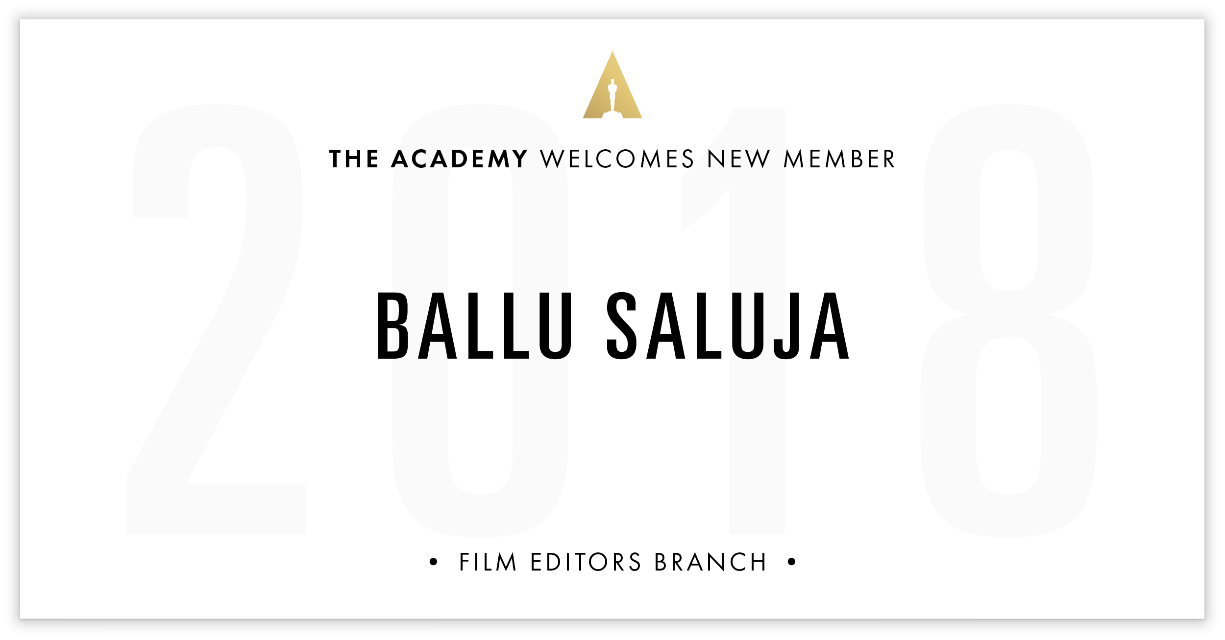 Ballu Saluja is invited!