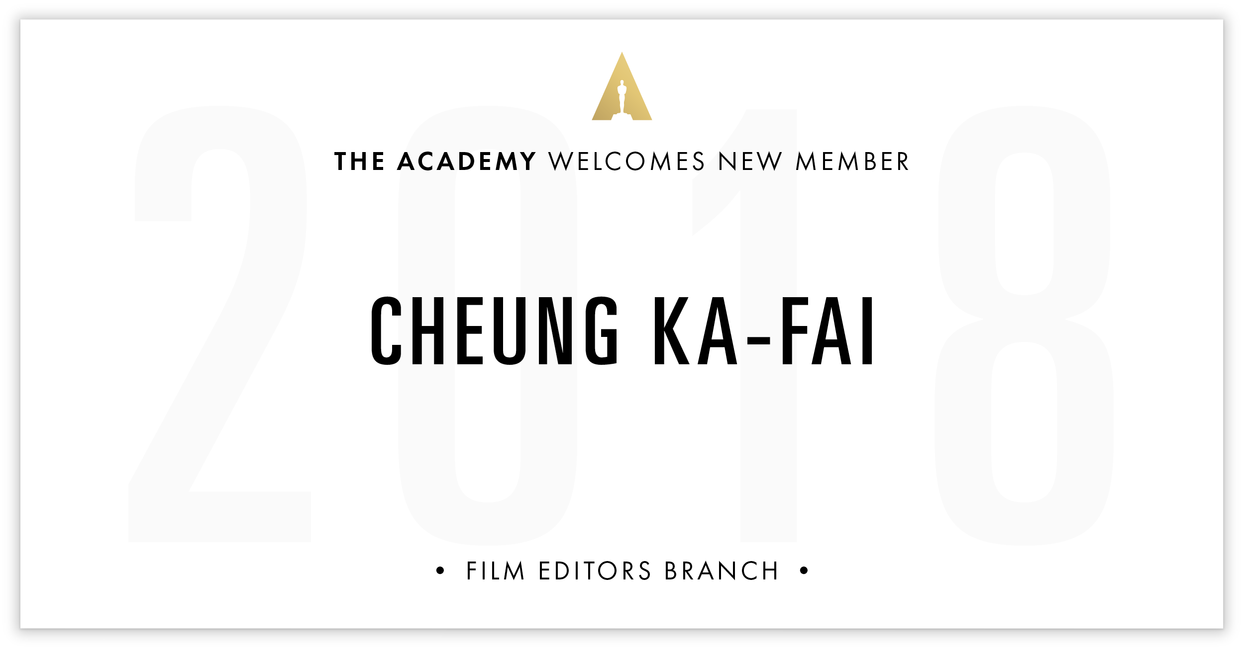 Cheung Ka-Fai is invited!
