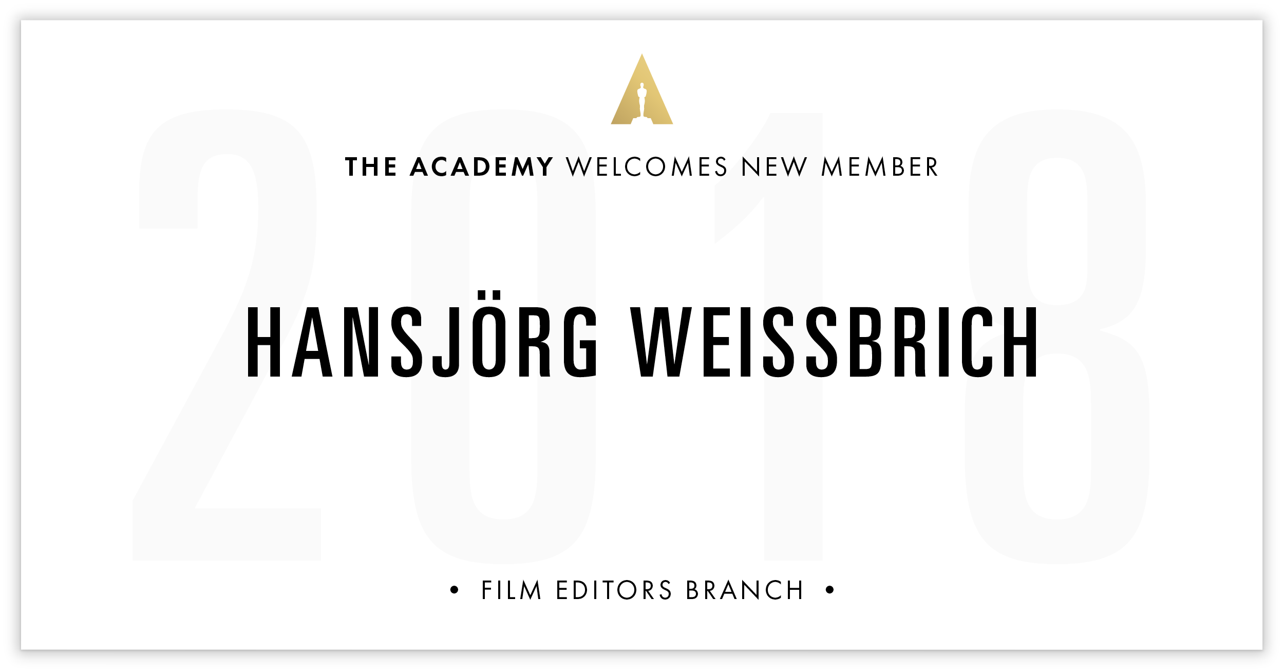 Hansjörg Weissbrich is invited!