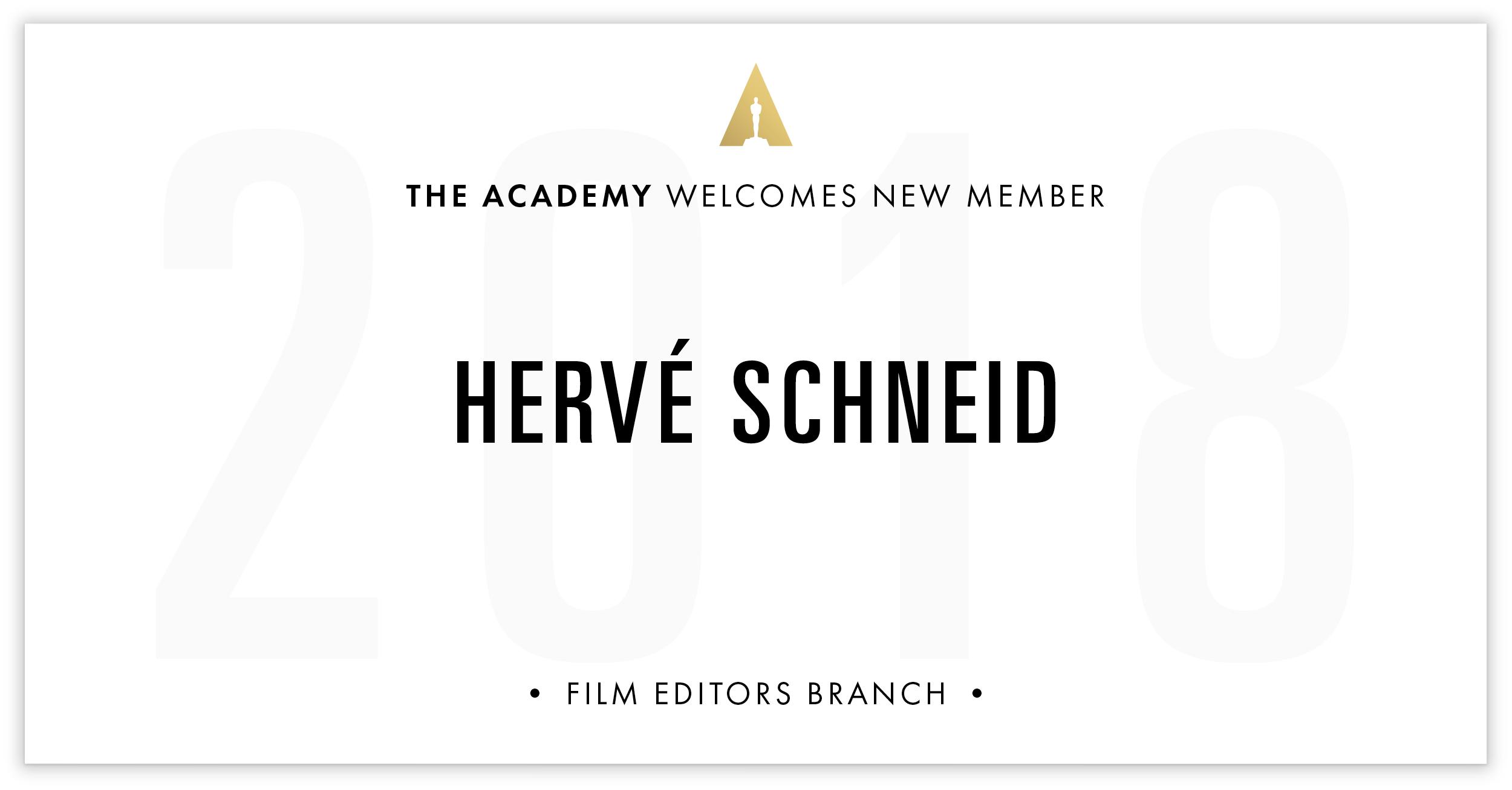Hervé Schneid is invited!