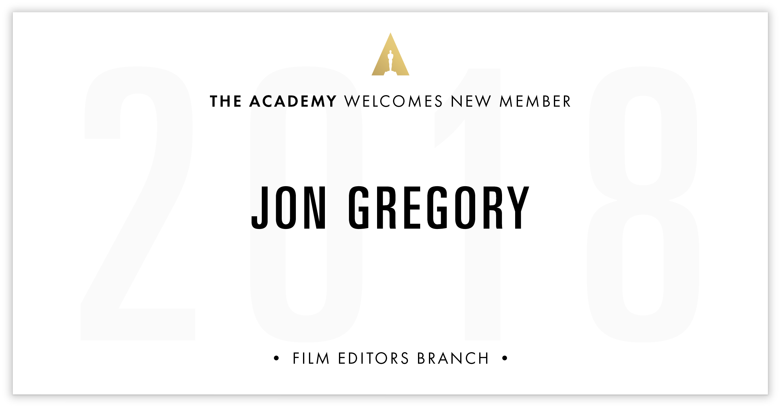 Jon Gregory is invited!