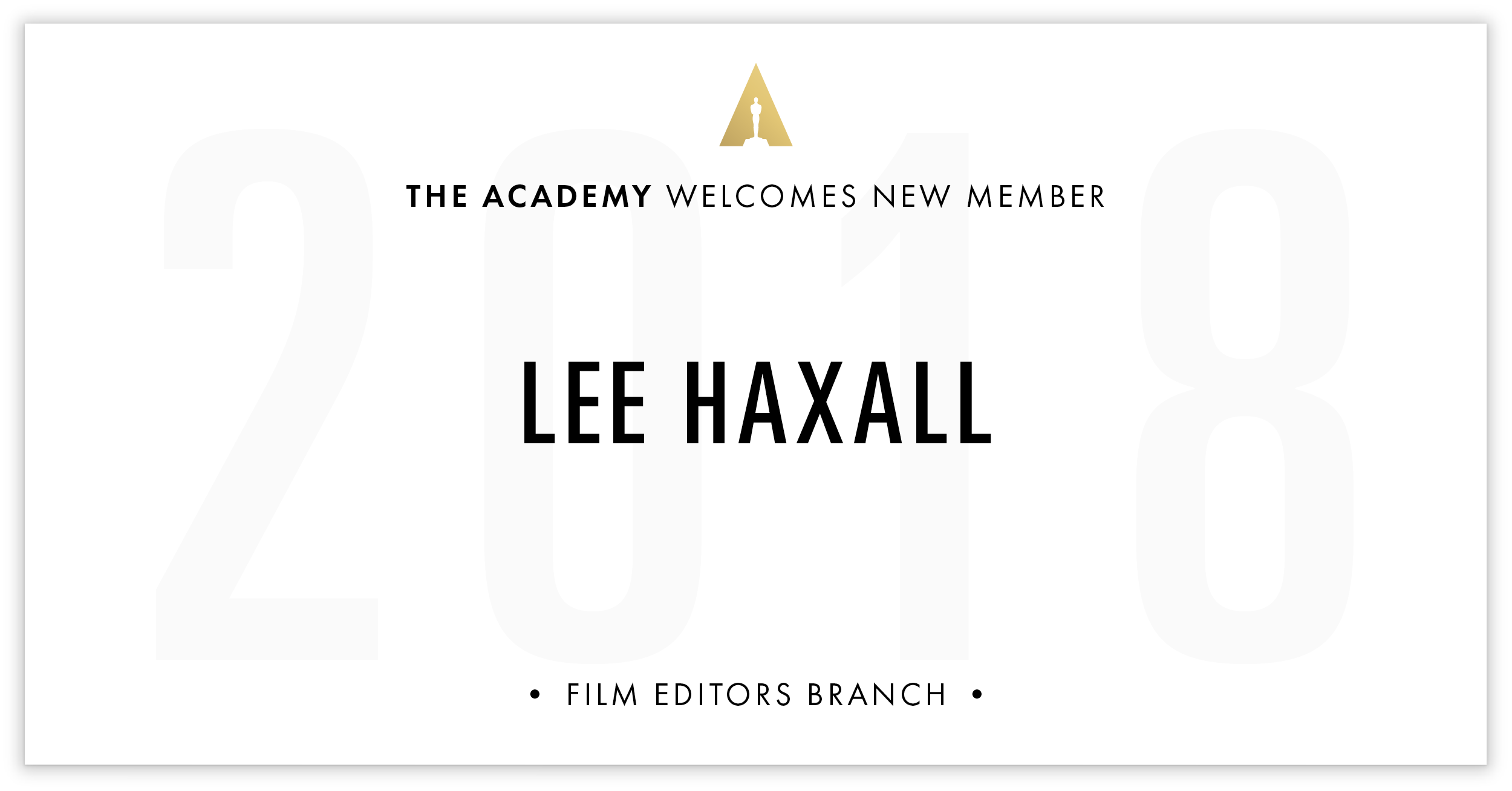 Lee Haxall is invited!