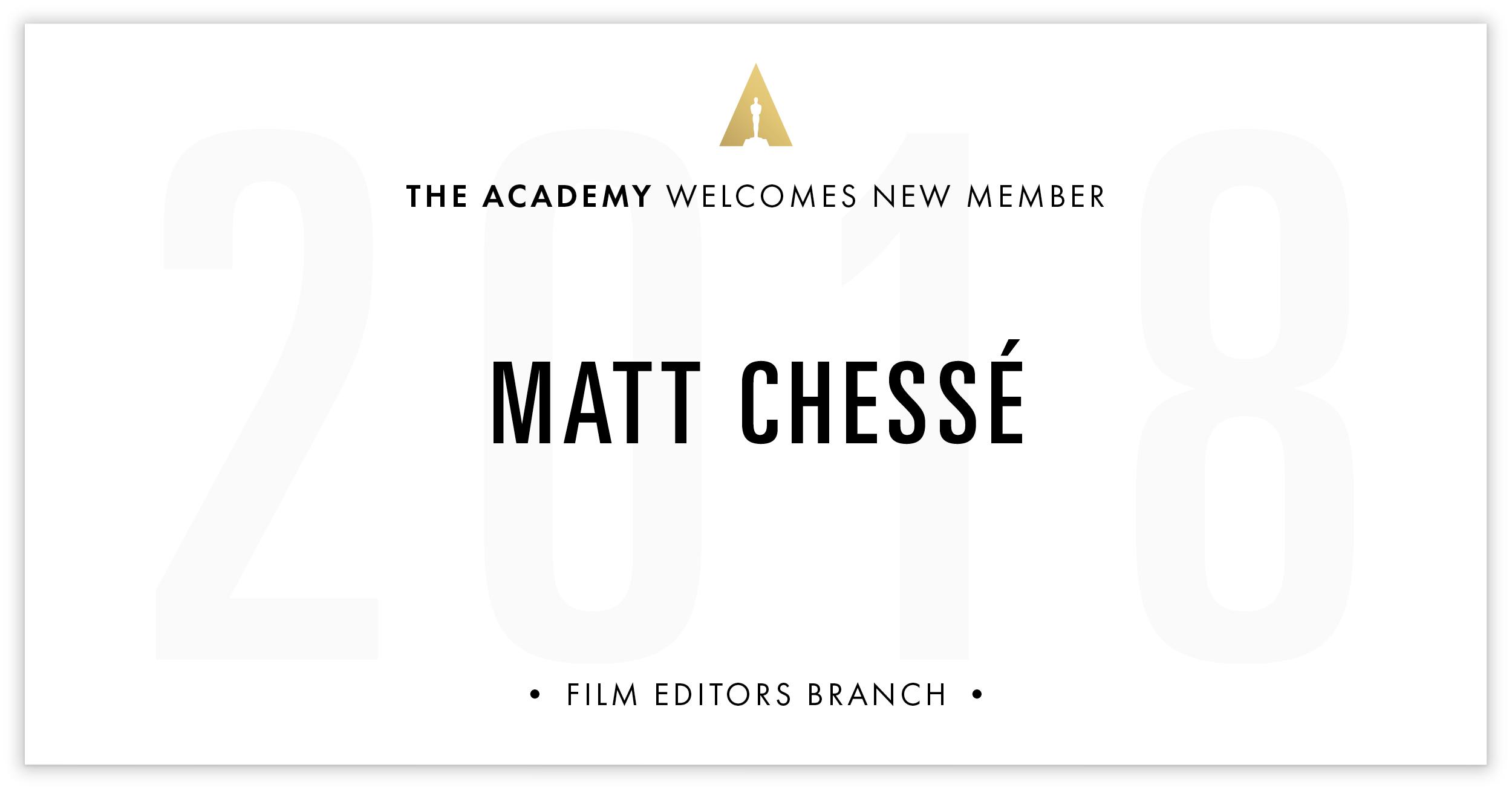 Matt Chessé is invited!