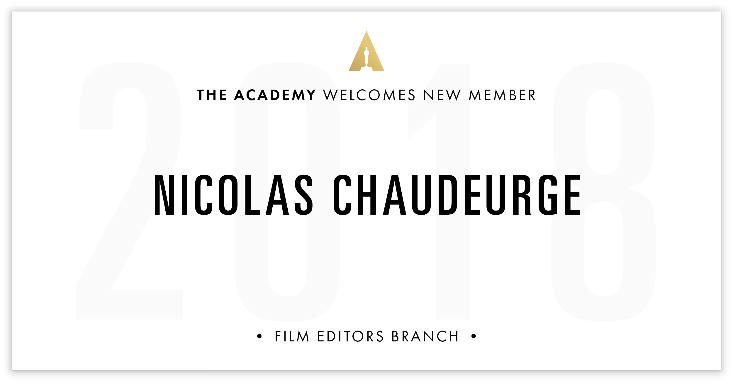 Nicolas Chaudeurge is invited!
