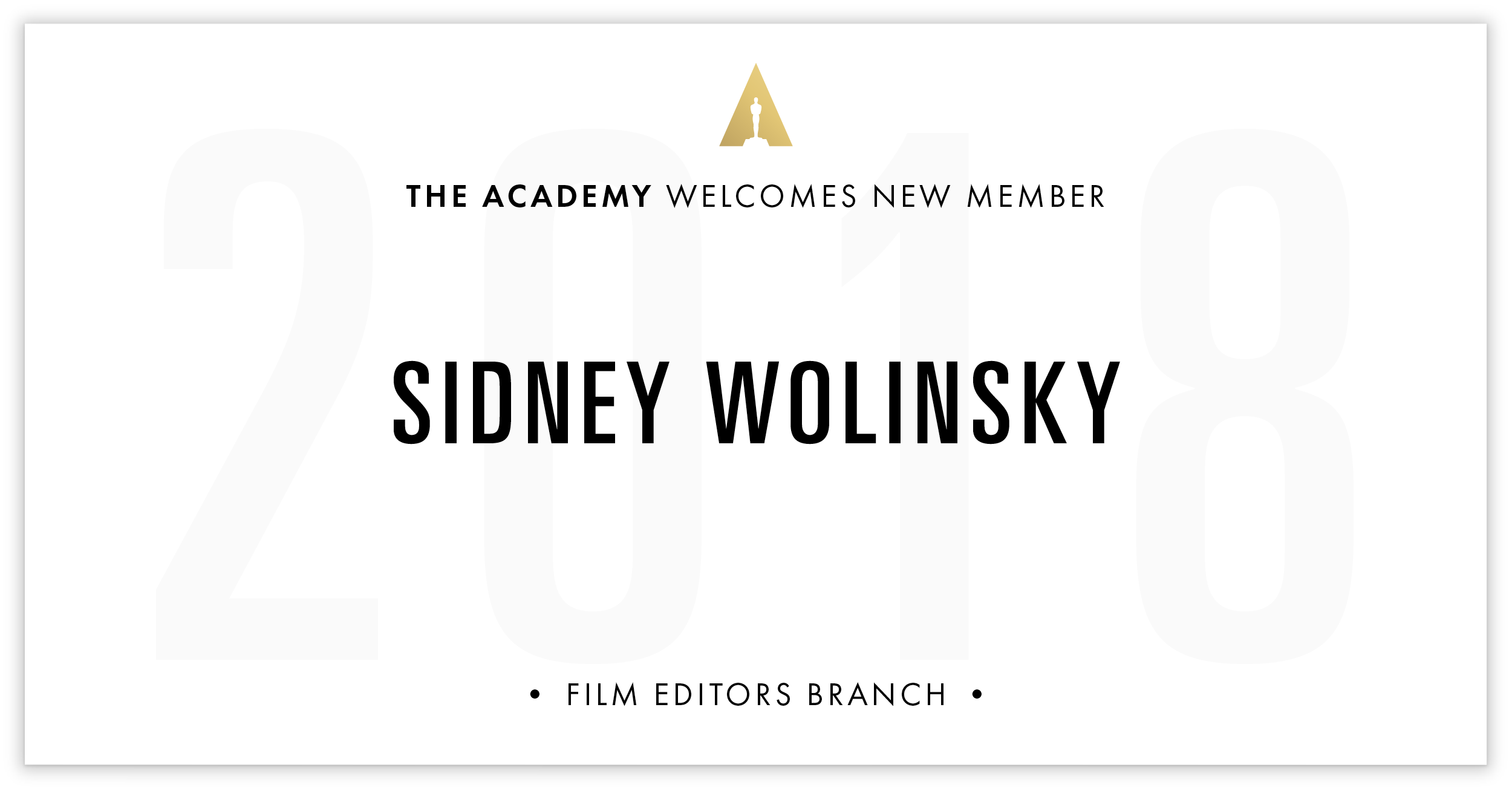 Sidney Wolinsky is invited!
