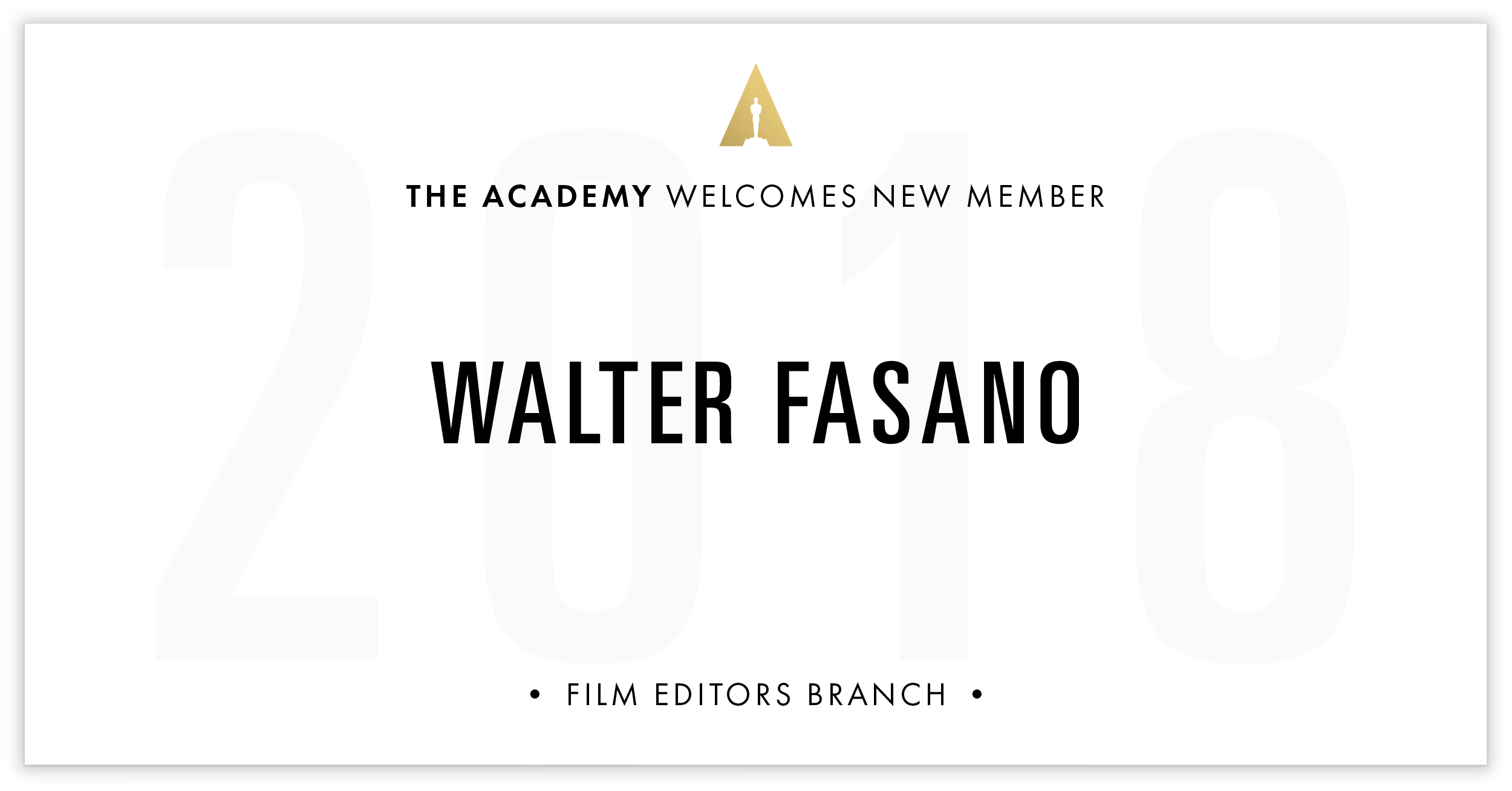 Walter Fasano is invited!