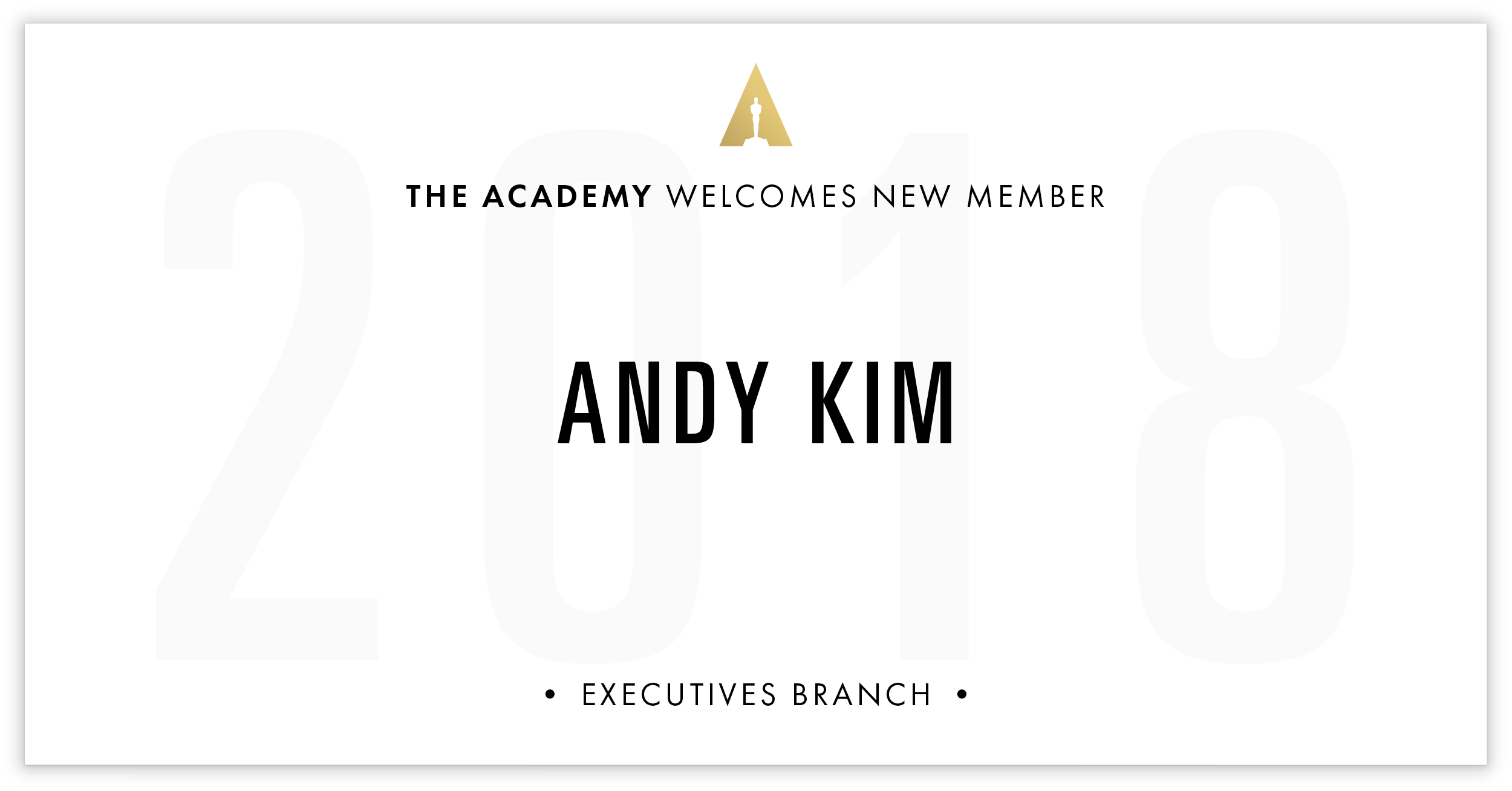 Andy Kim is invited!