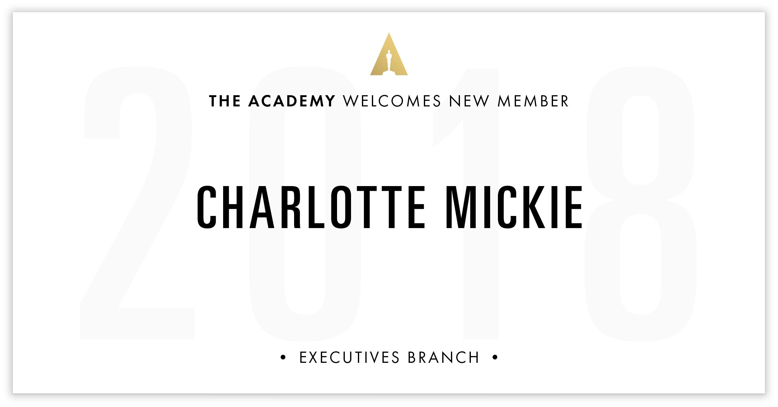 Charlotte Mickie is invited!
