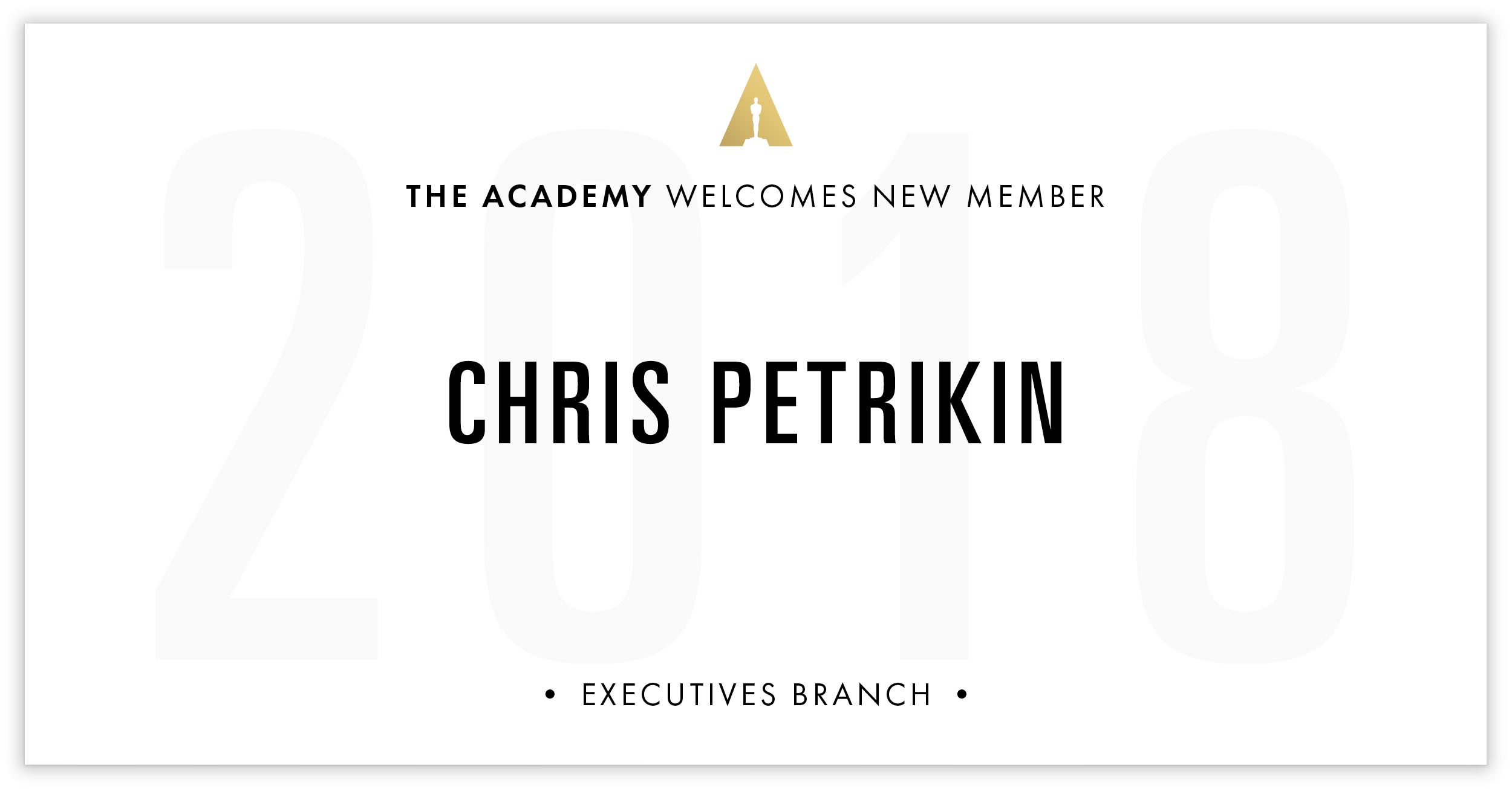 Chris Petrikin is invited!