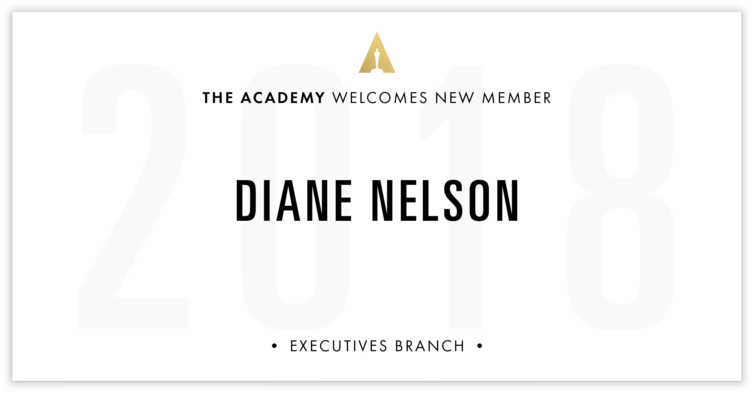Diane Nelson is invited!