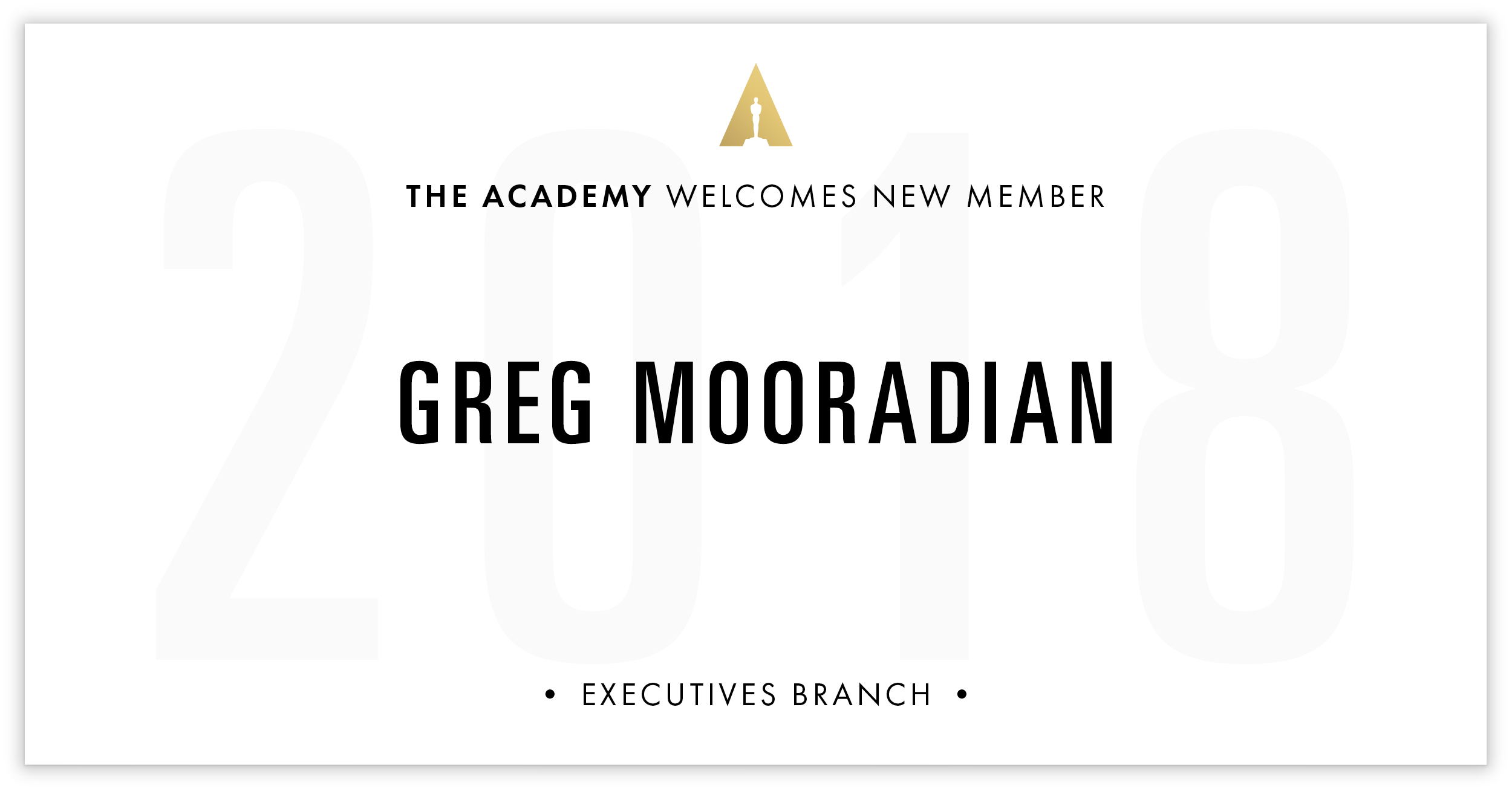 Greg Mooradian is invited!