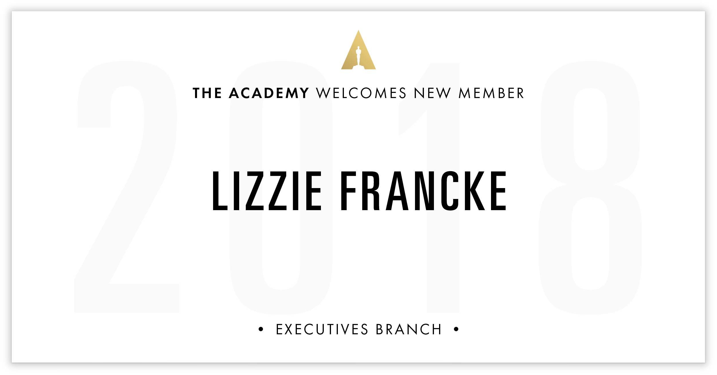 Lizzie Francke is invited!