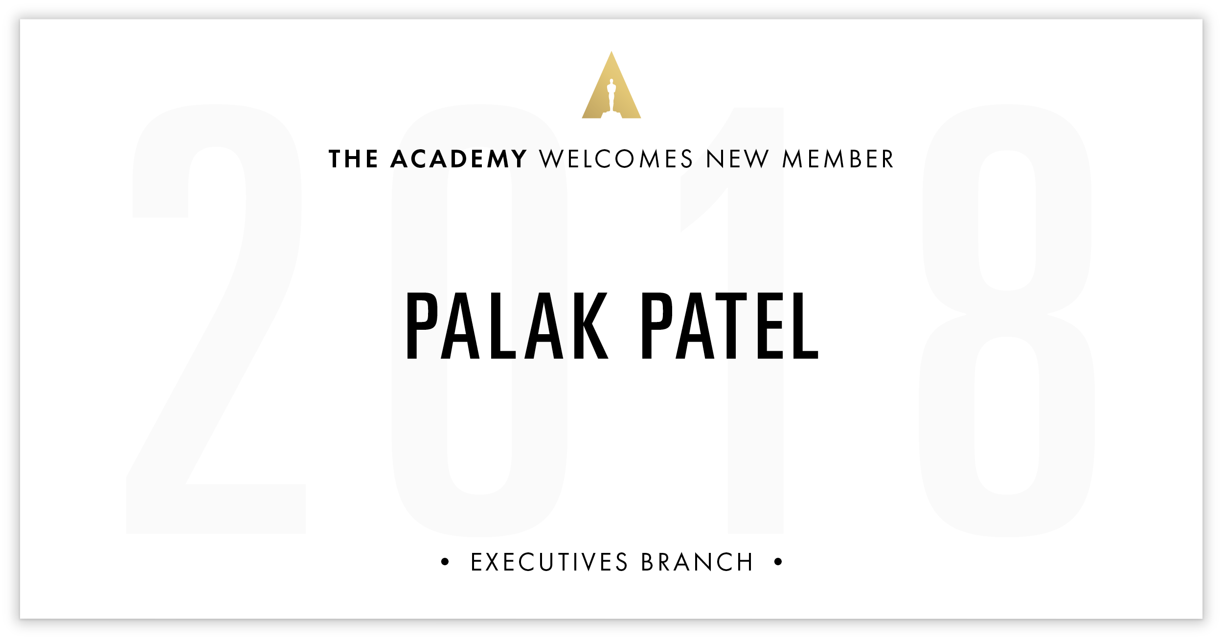 Palak Patel is invited!