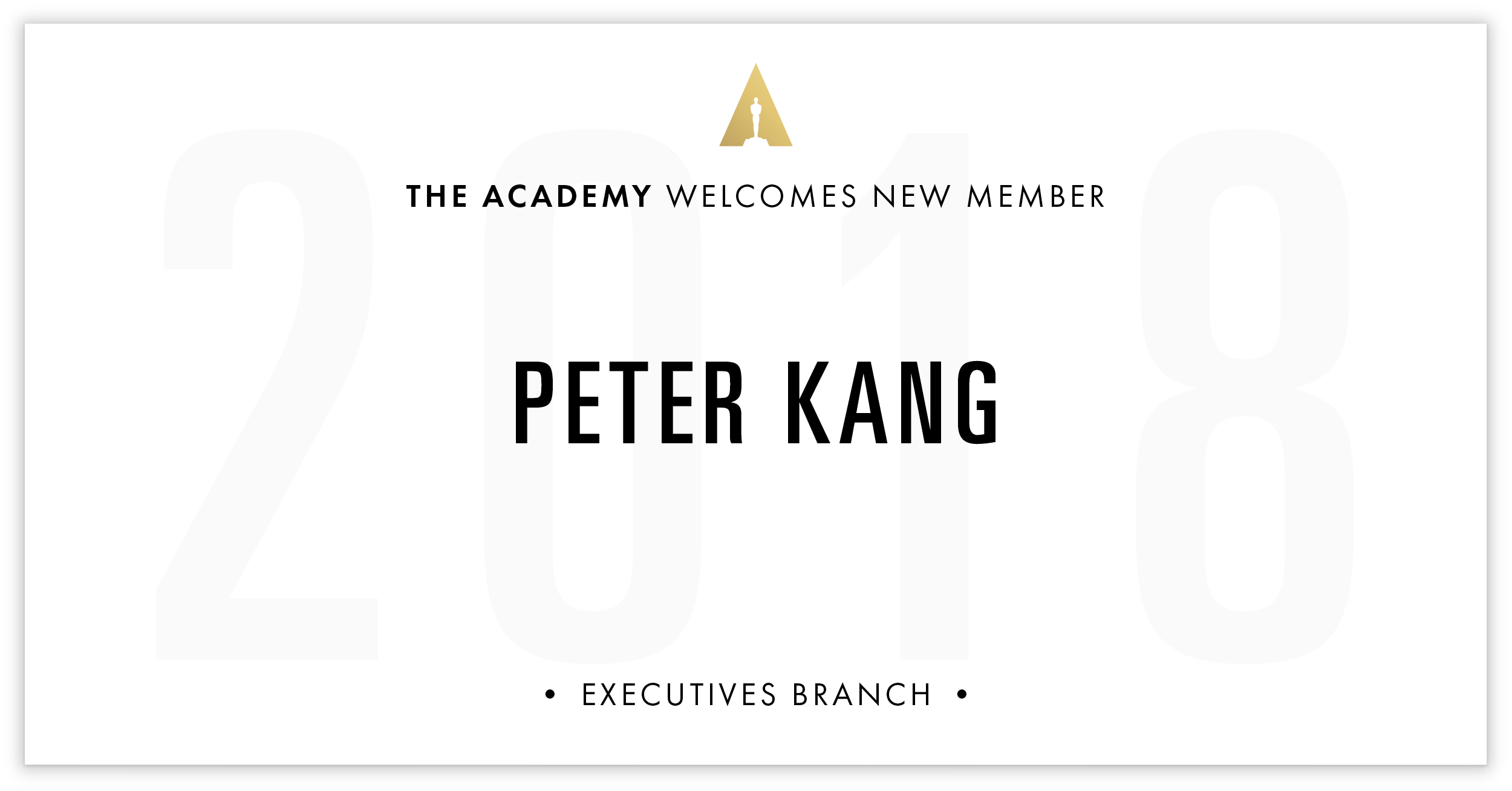 Peter Kang is invited!