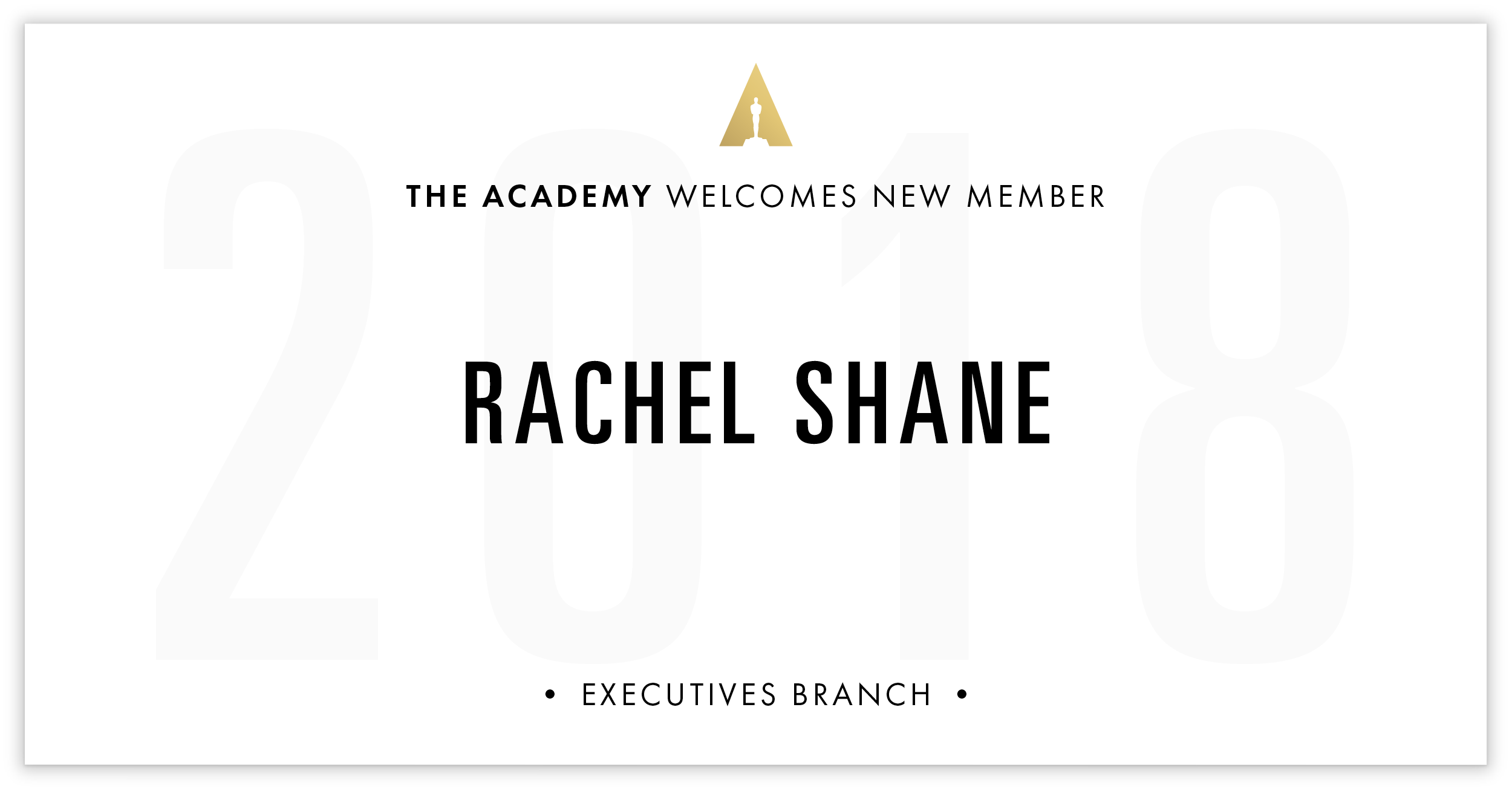 Rachel Shane is invited!
