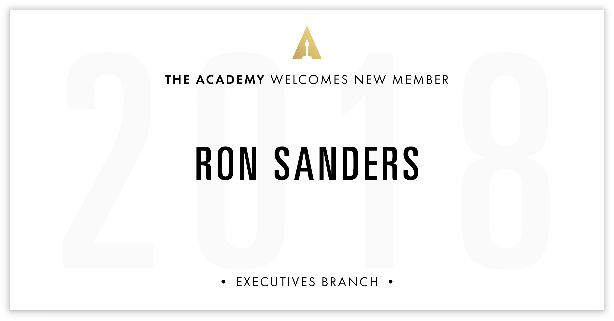 Ron Sanders is invited!