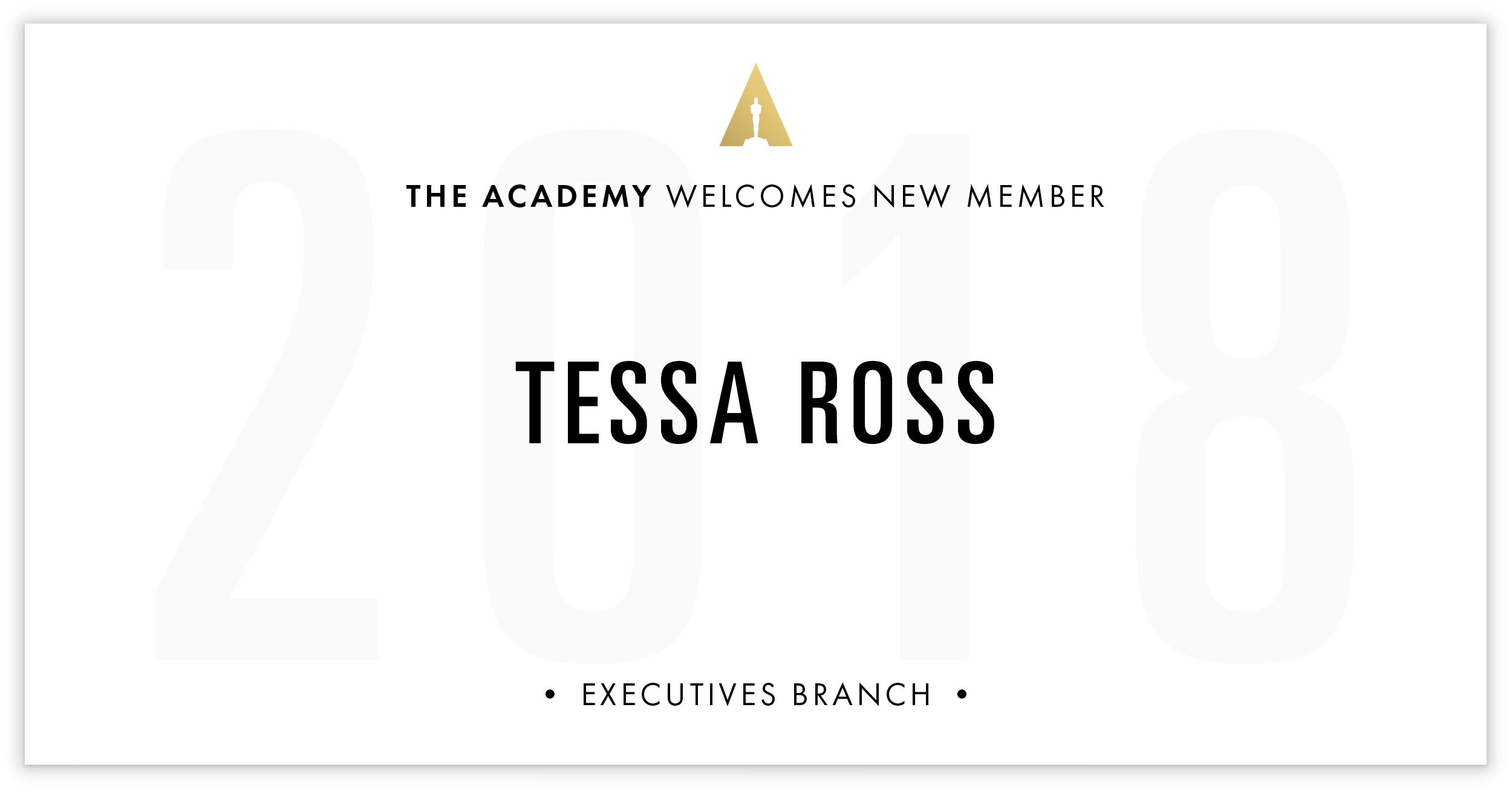 Tessa Ross is invited!