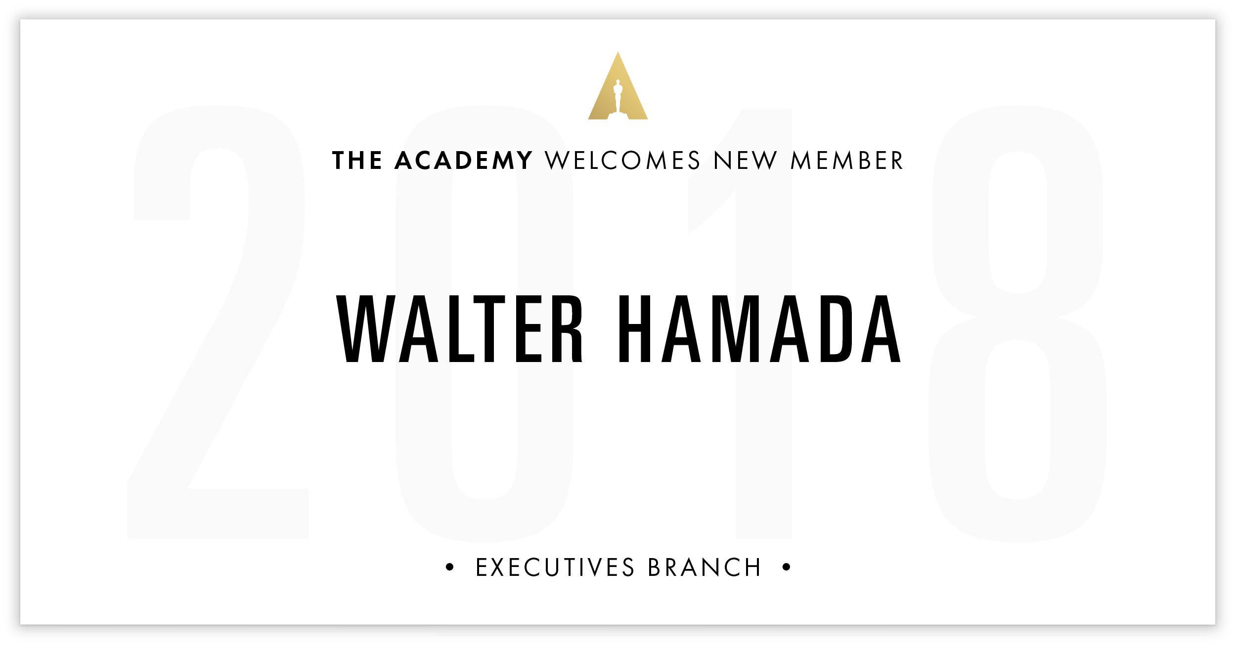 Walter Hamada is invited!