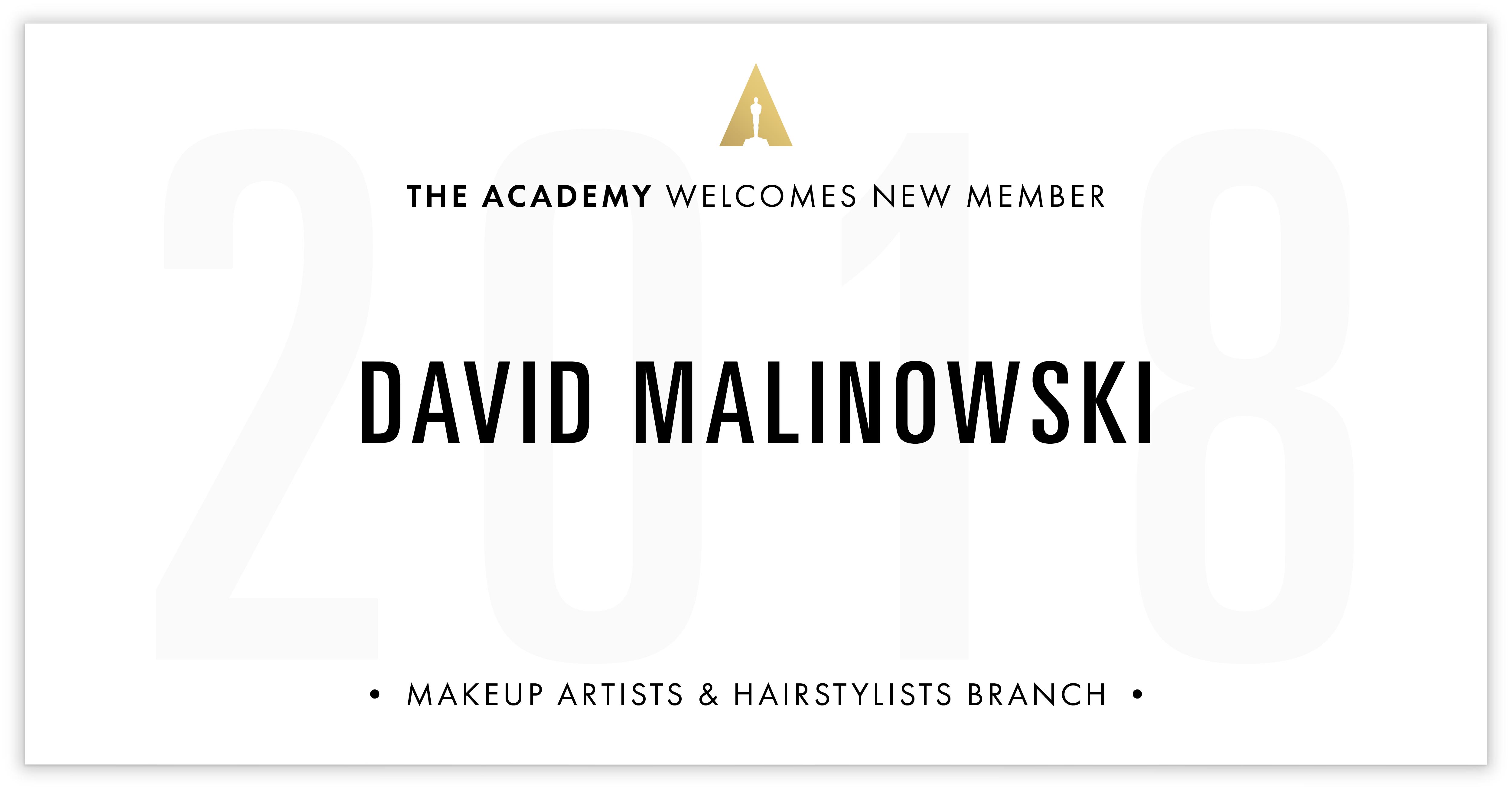 David Malinowski is invited!