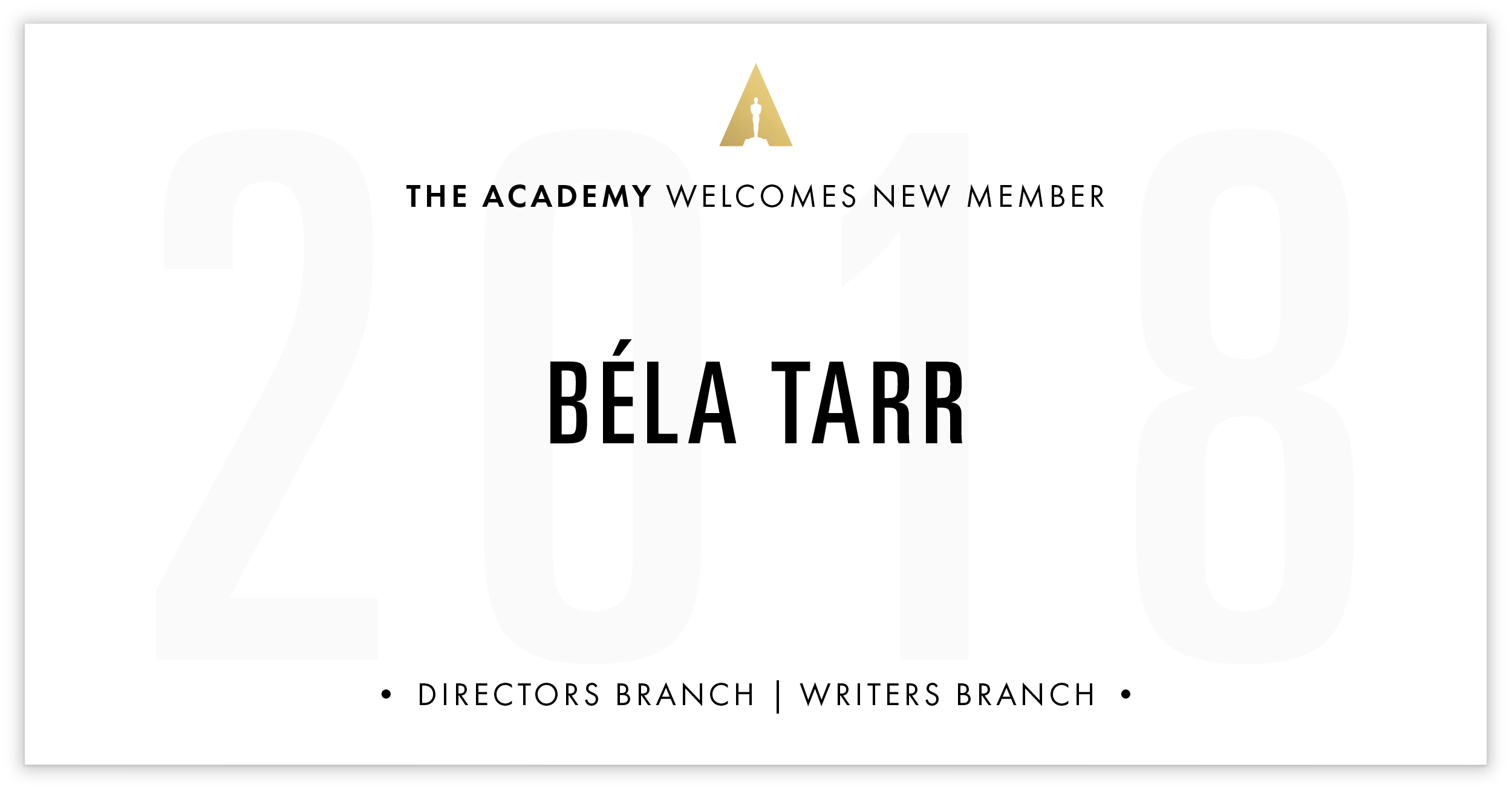 Béla Tarr is invited!