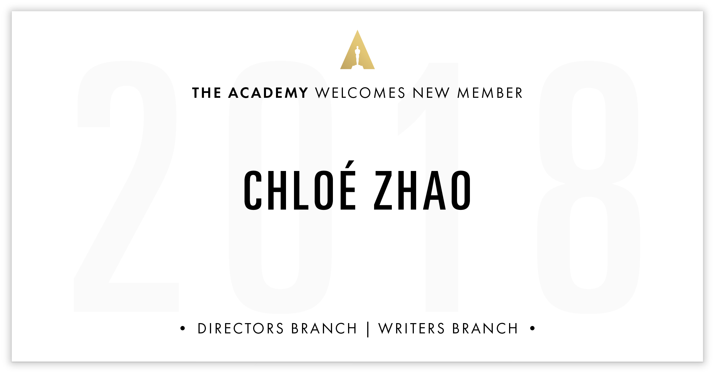 Chloé Zhao is invited!