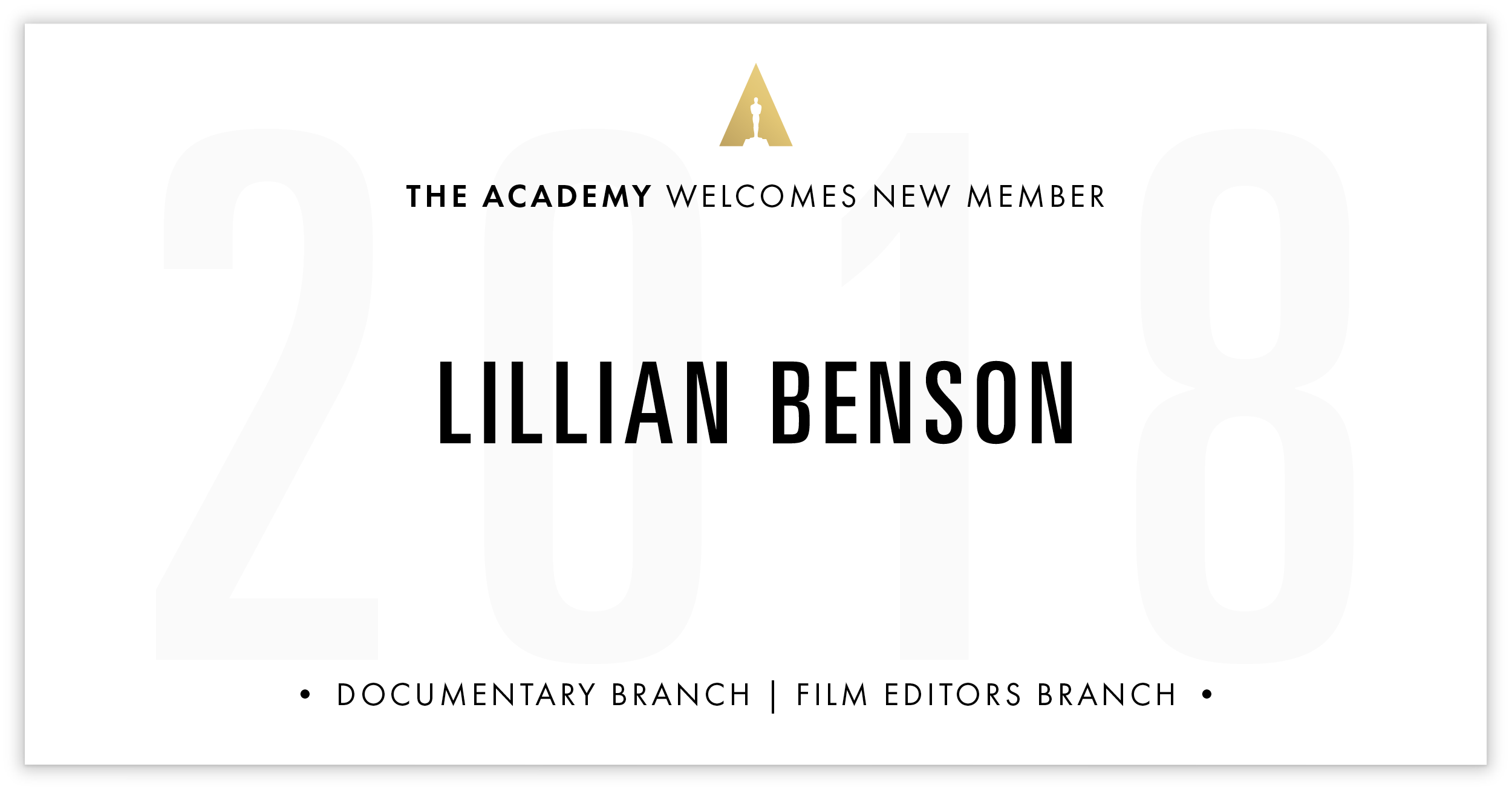 Lillian Benson is invited!