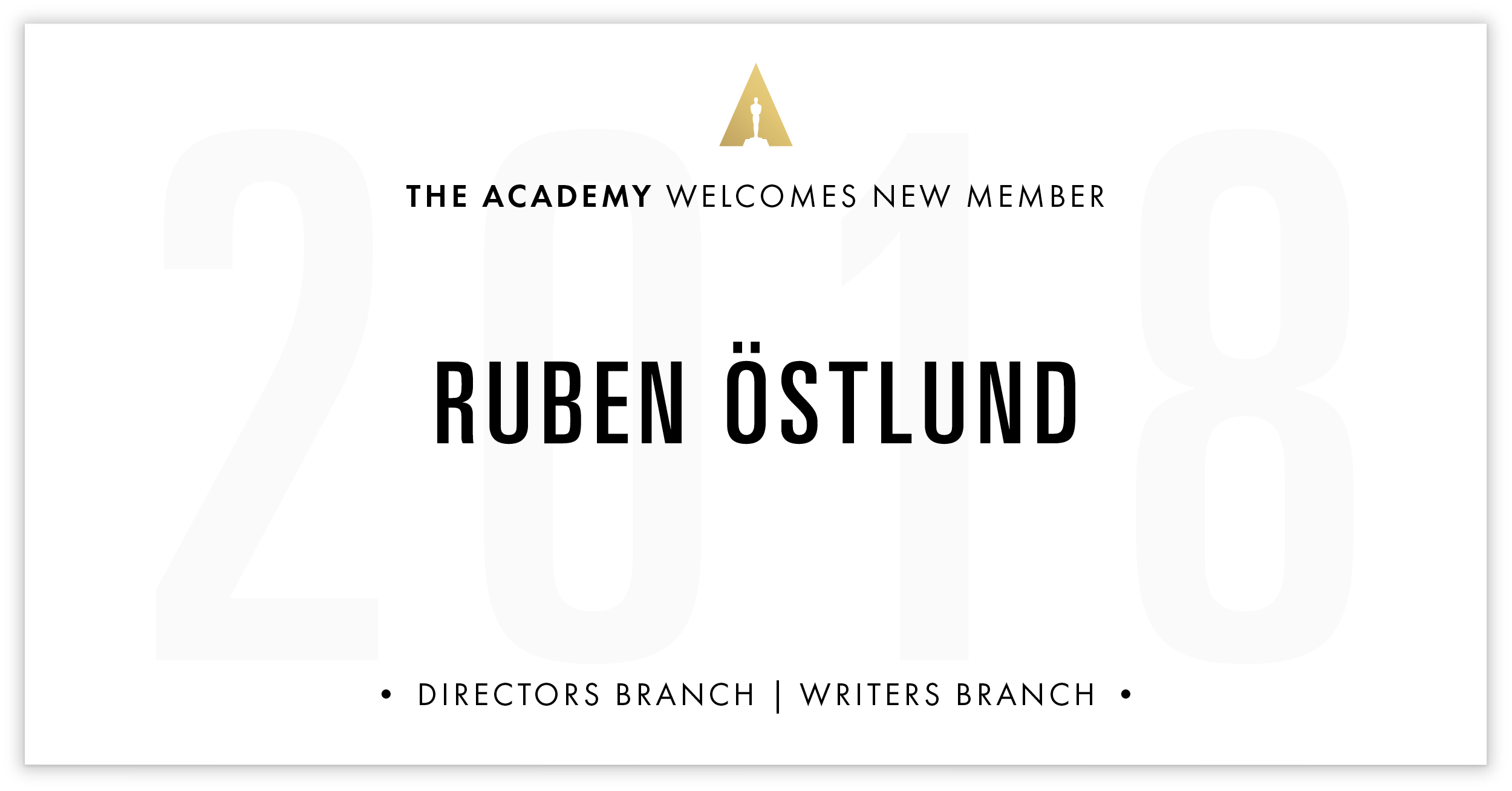 Ruben Östlund is invited!