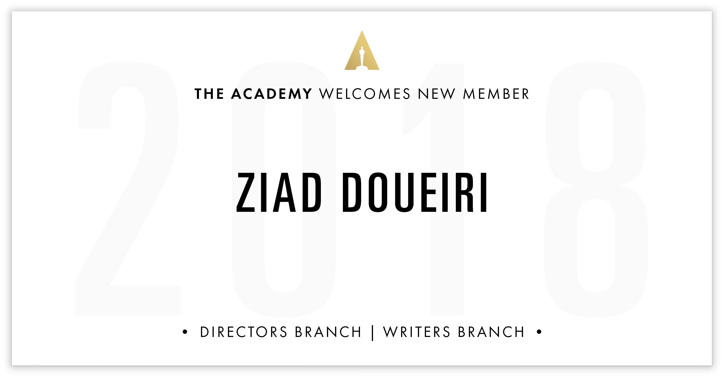 Ziad Doueiri is invited!