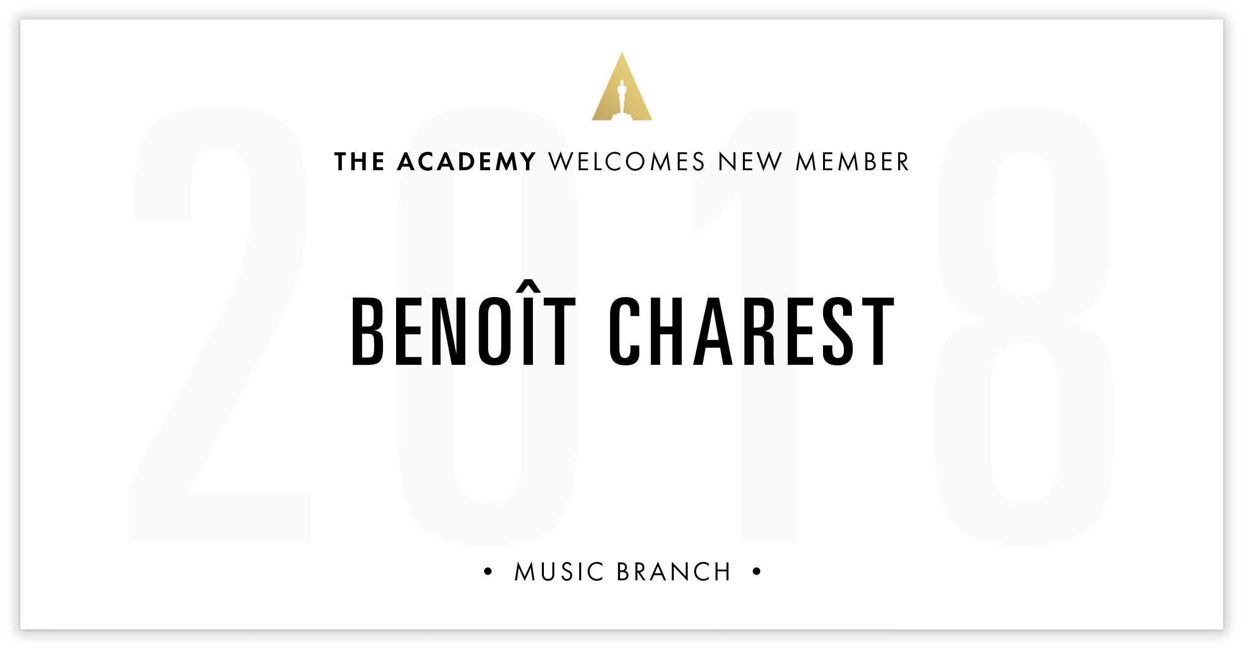 Benoît Charest is invited!