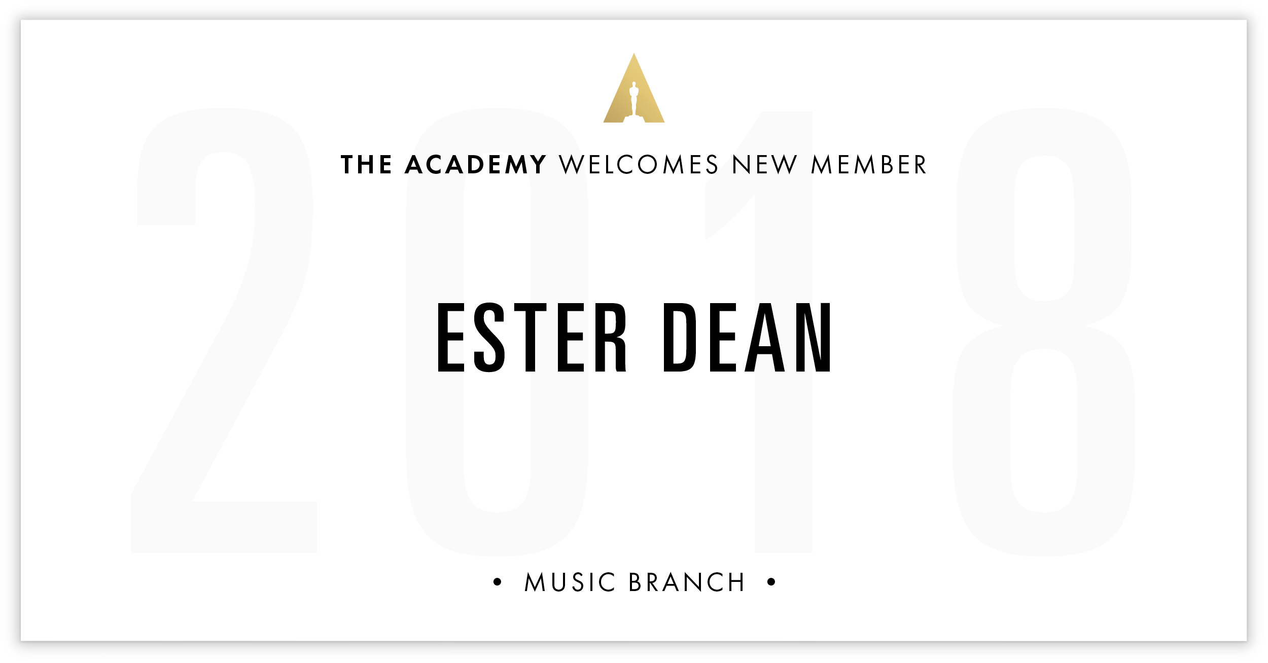 Ester Dean is invited!