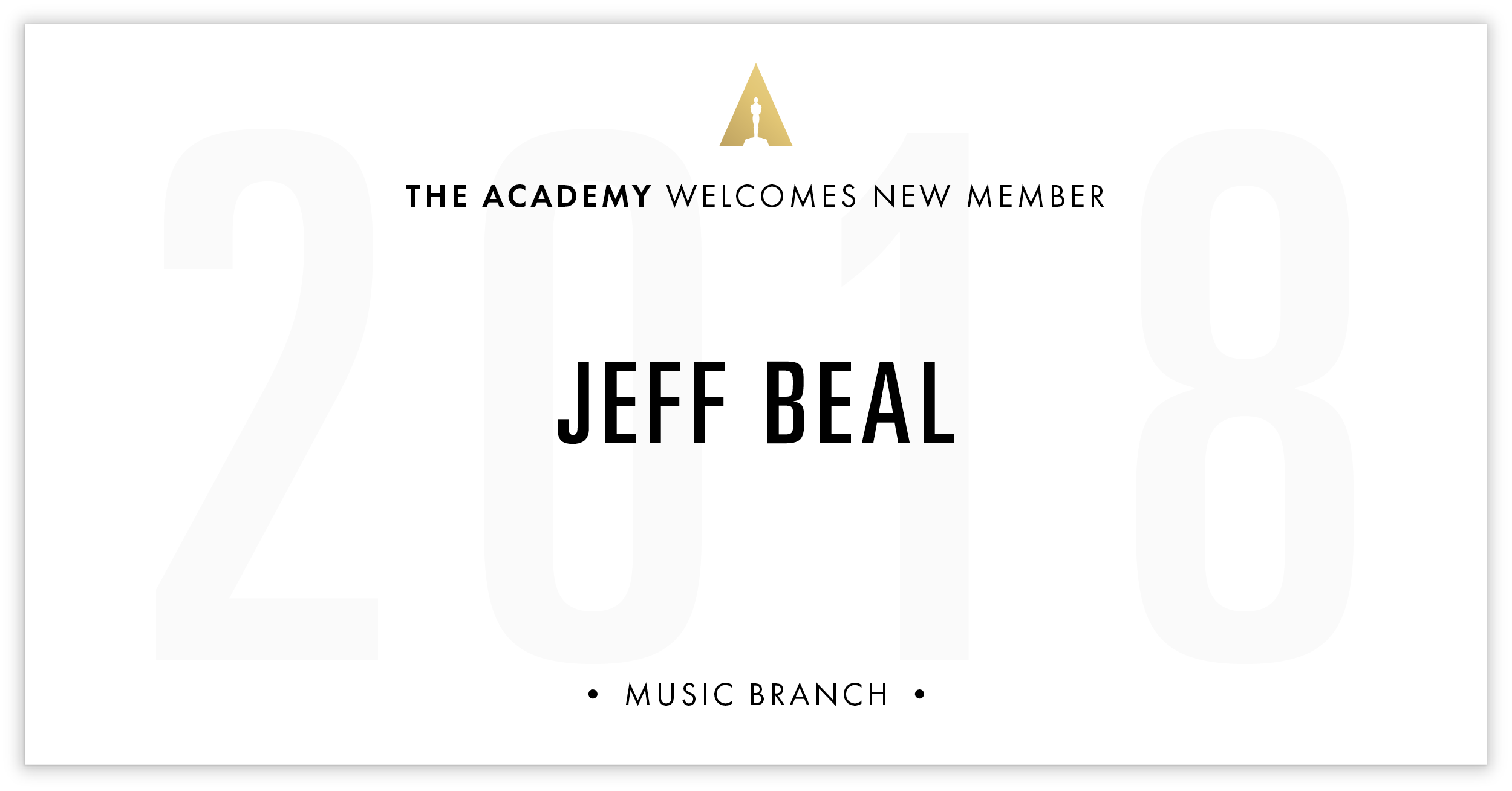 Jeff Beal is invited!