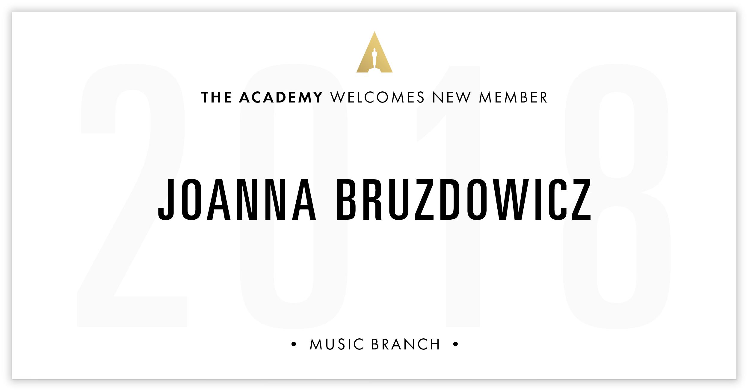 Joanna Bruzdowicz is invited!