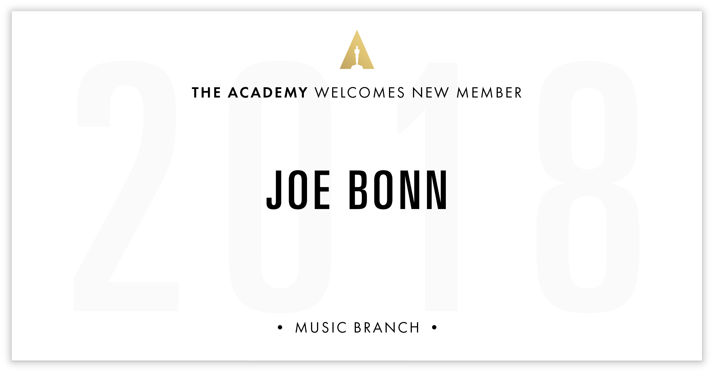 Joe Bonn is invited!