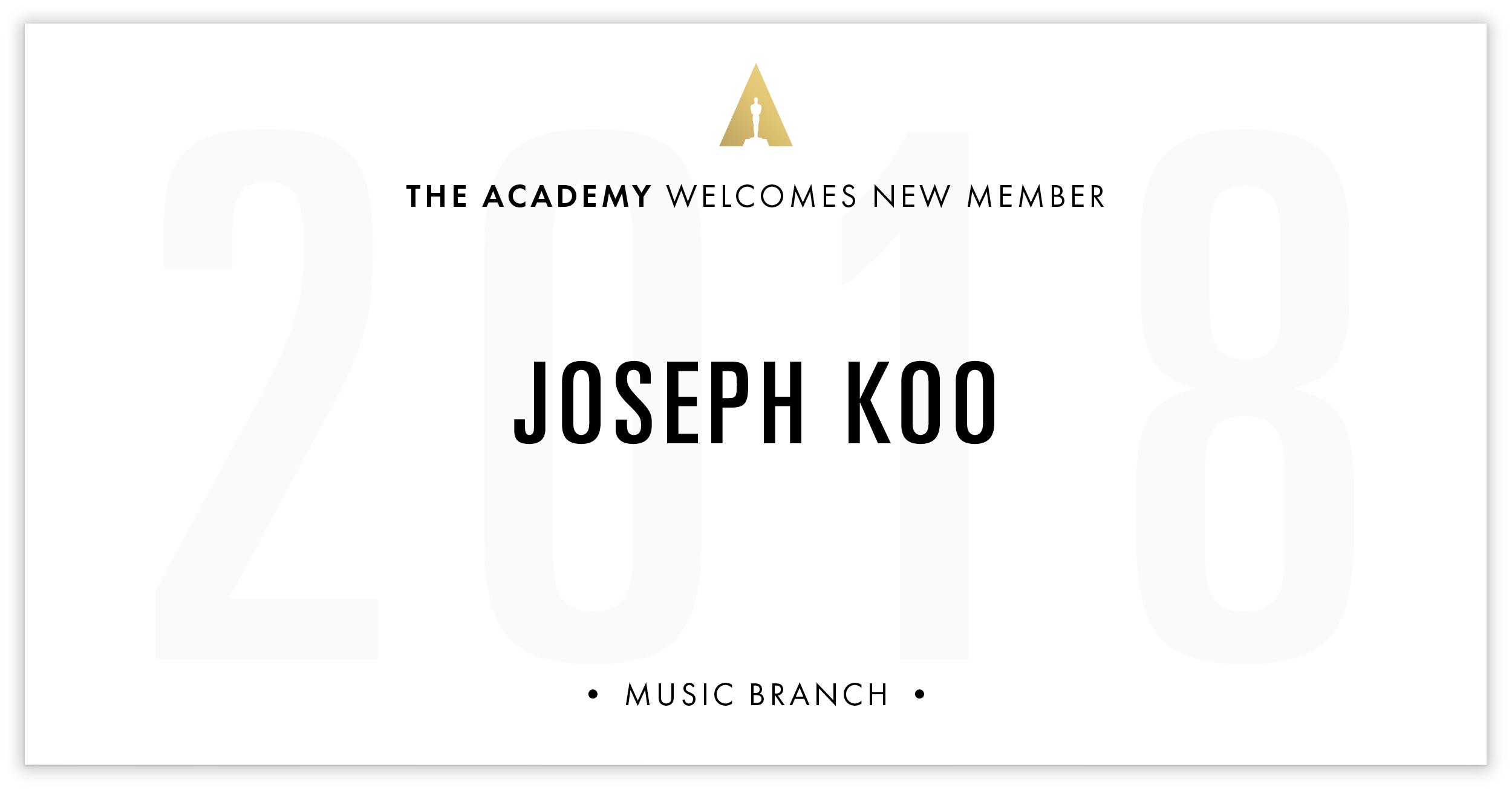 Joseph Koo is invited!