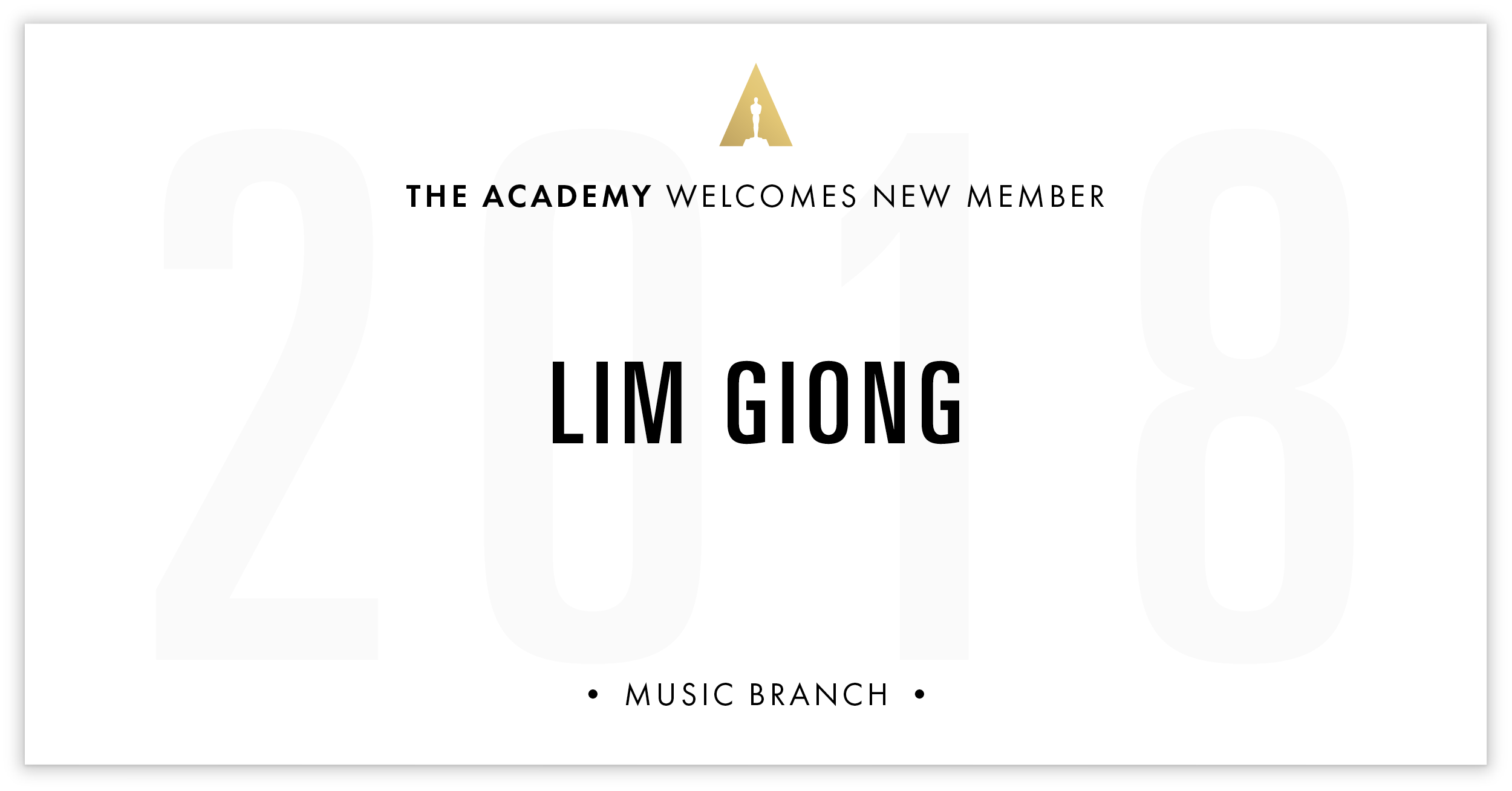 Lim Giong is invited!