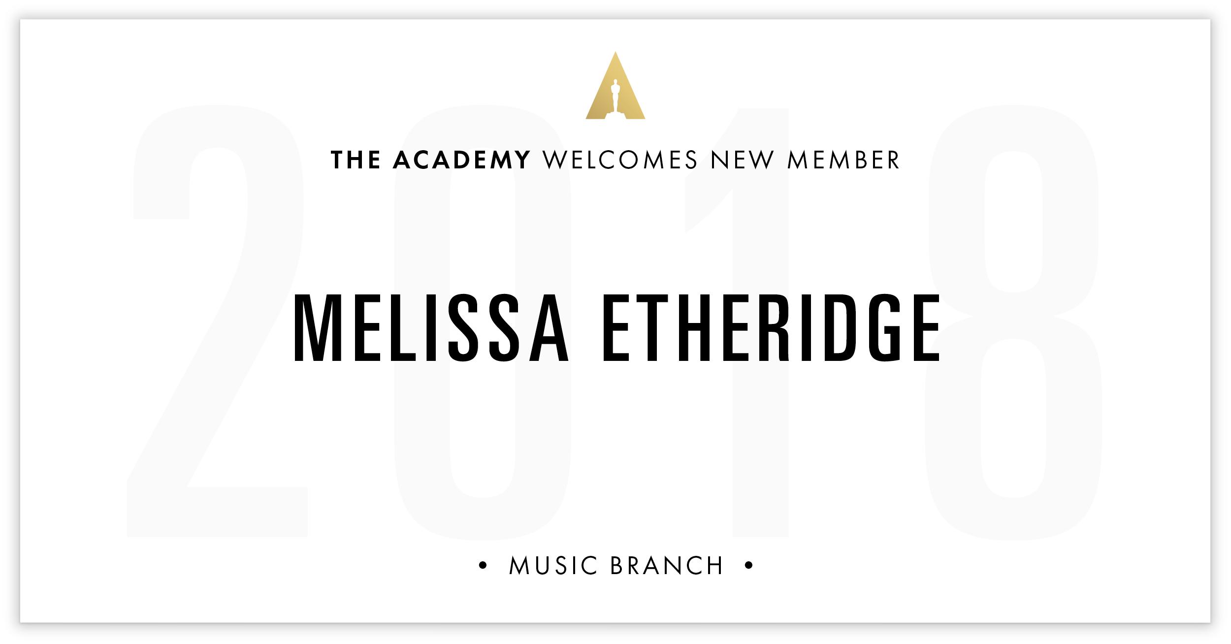 Melissa Etheridge is invited!