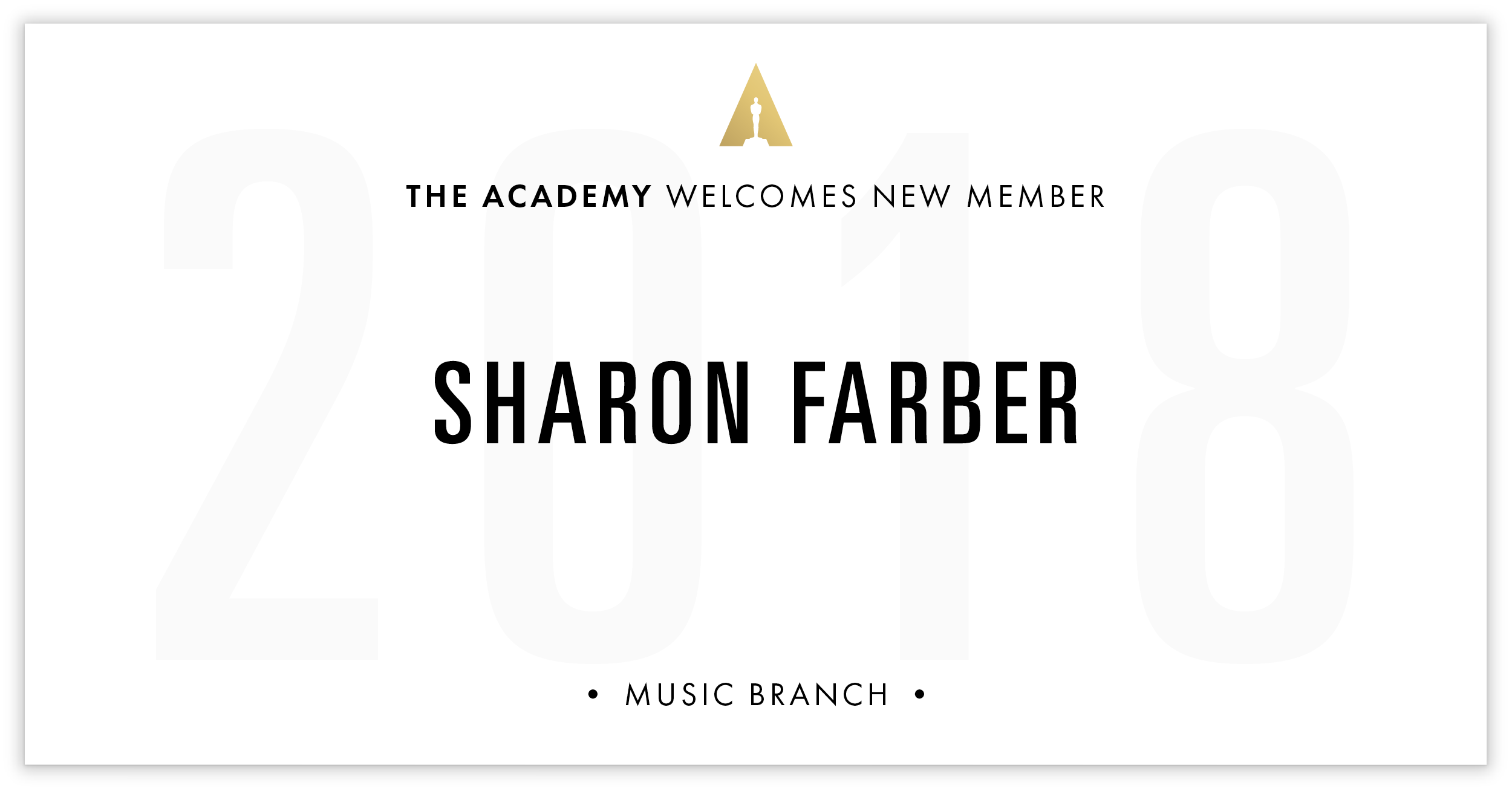 Sharon Farber is invited!