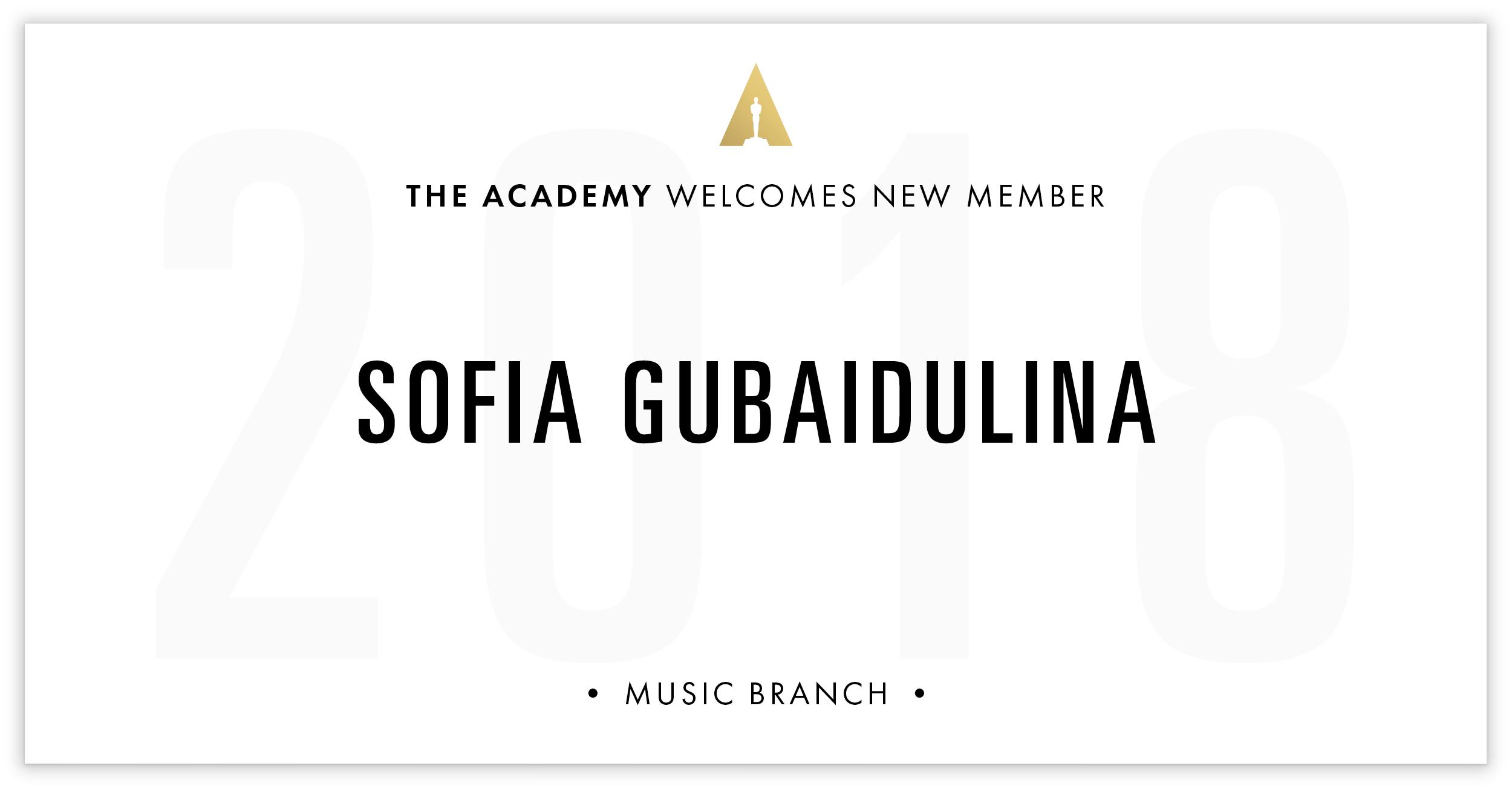Sofia Gubaidulina is invited!