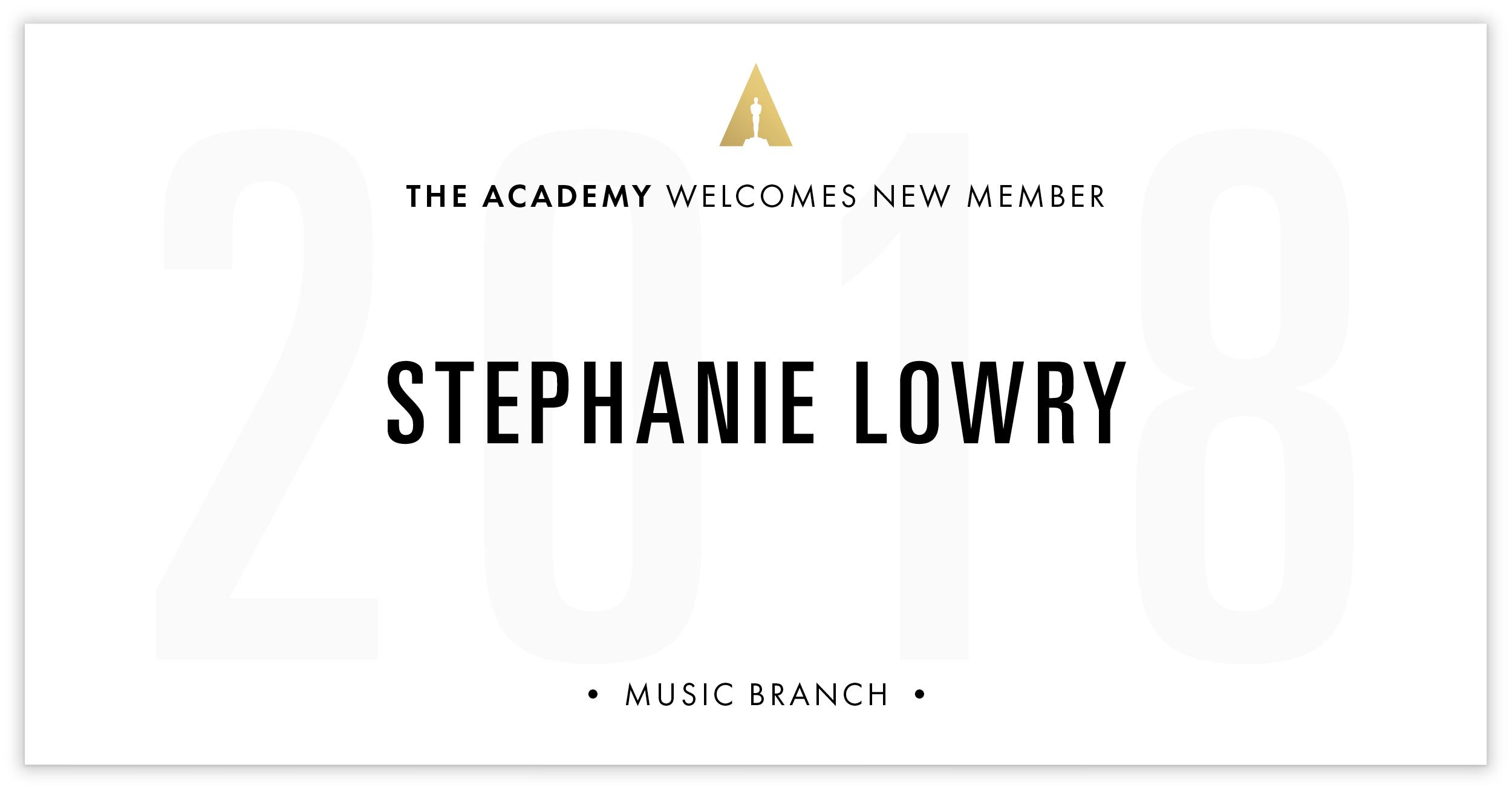 Stephanie Lowry is invited!